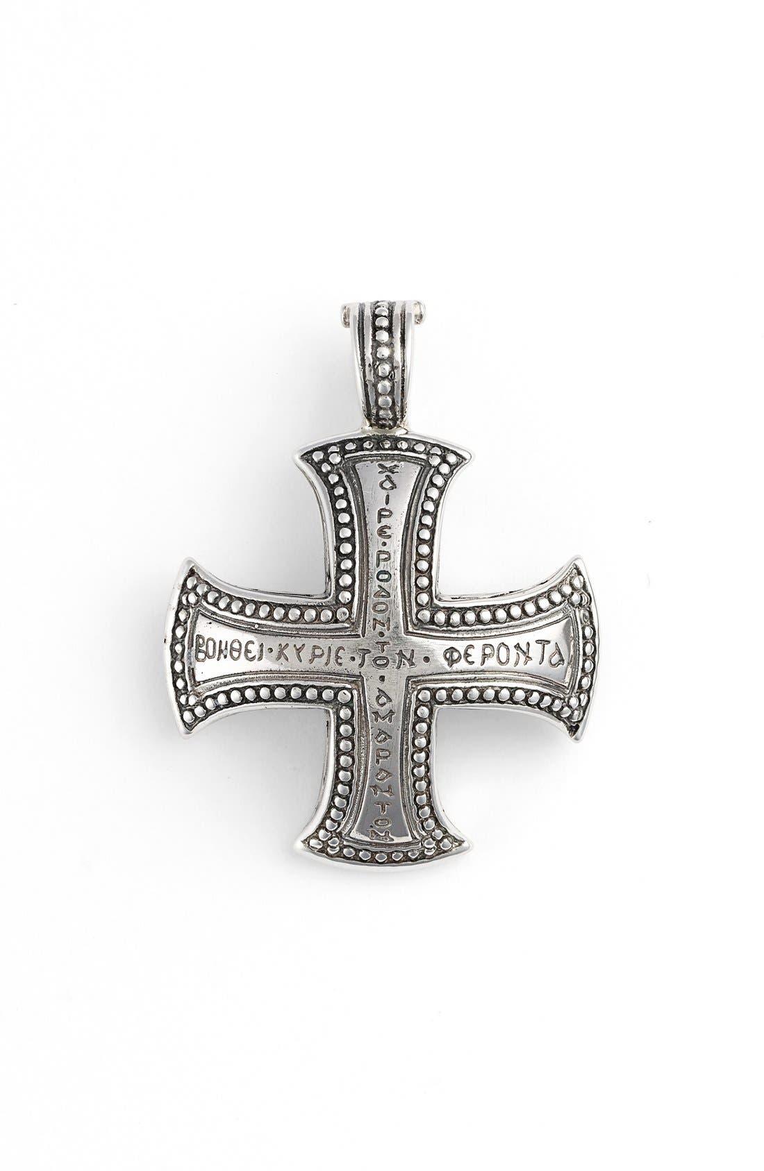 Silver Classics Maltese Cross Pendant,                         Main,                         color,