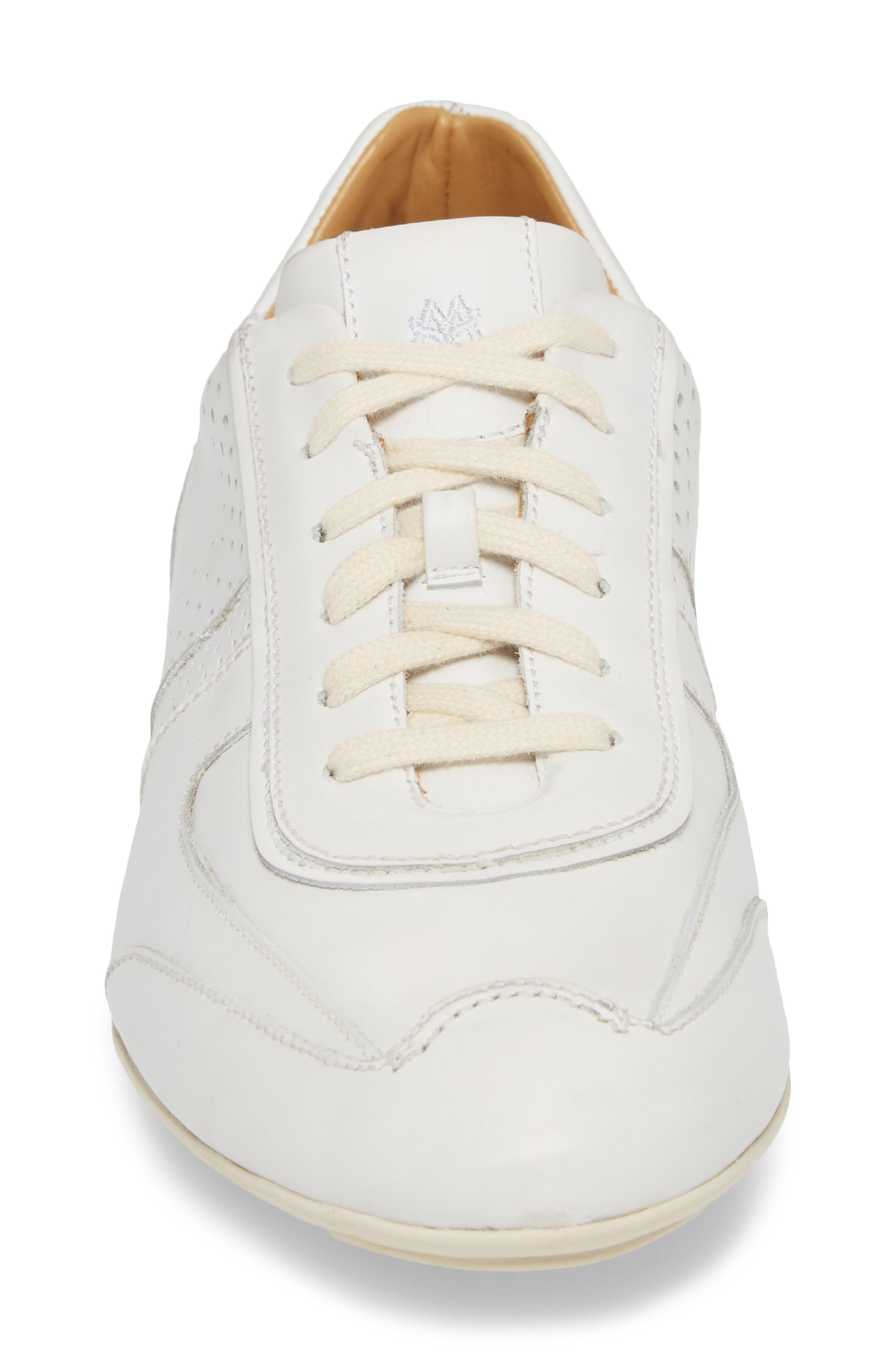 Lozano II Low Top Sneaker,                             Alternate thumbnail 4, color,                             WHITE LEATHER