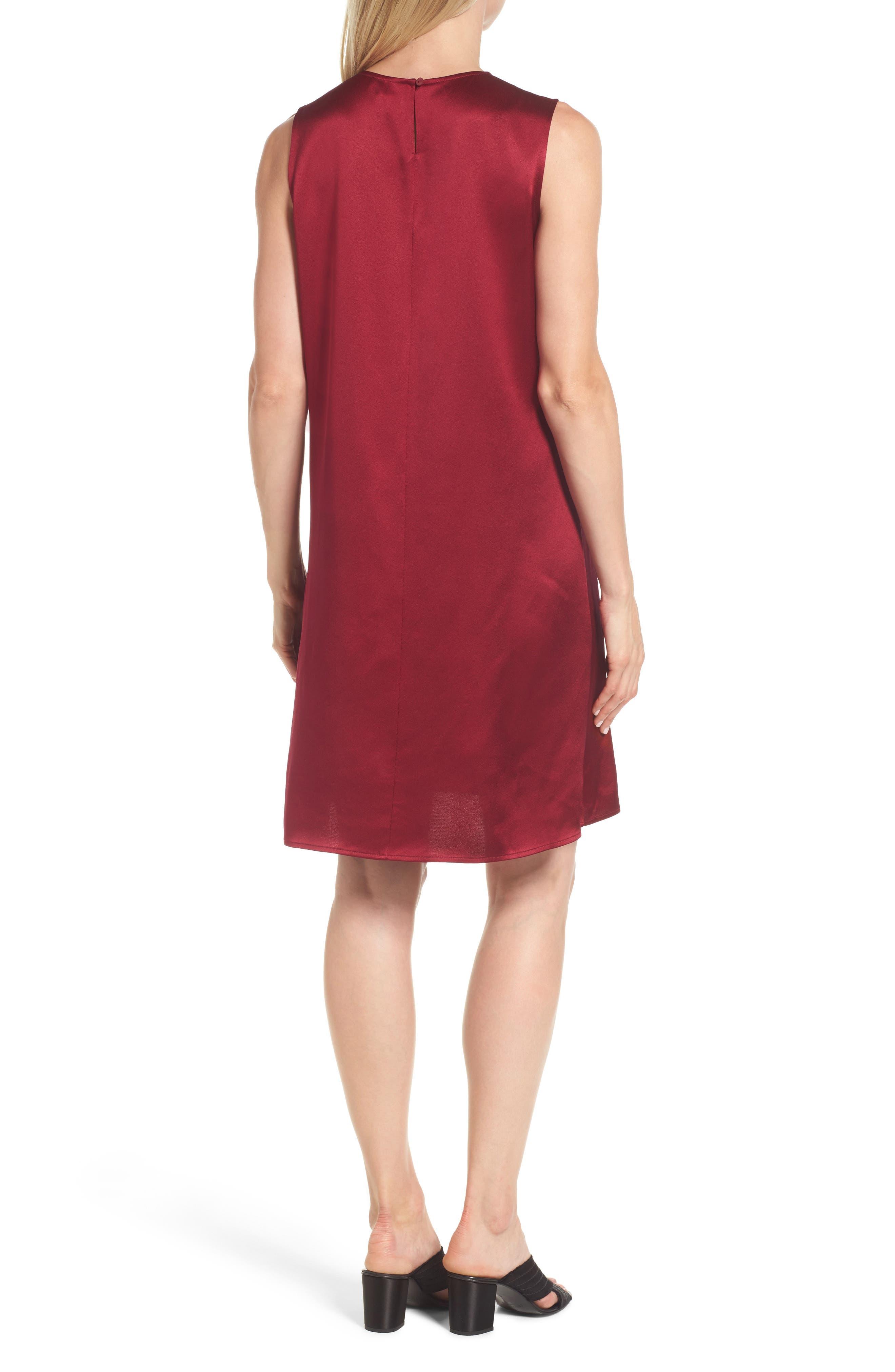 Silk Shift Dress,                             Alternate thumbnail 6, color,