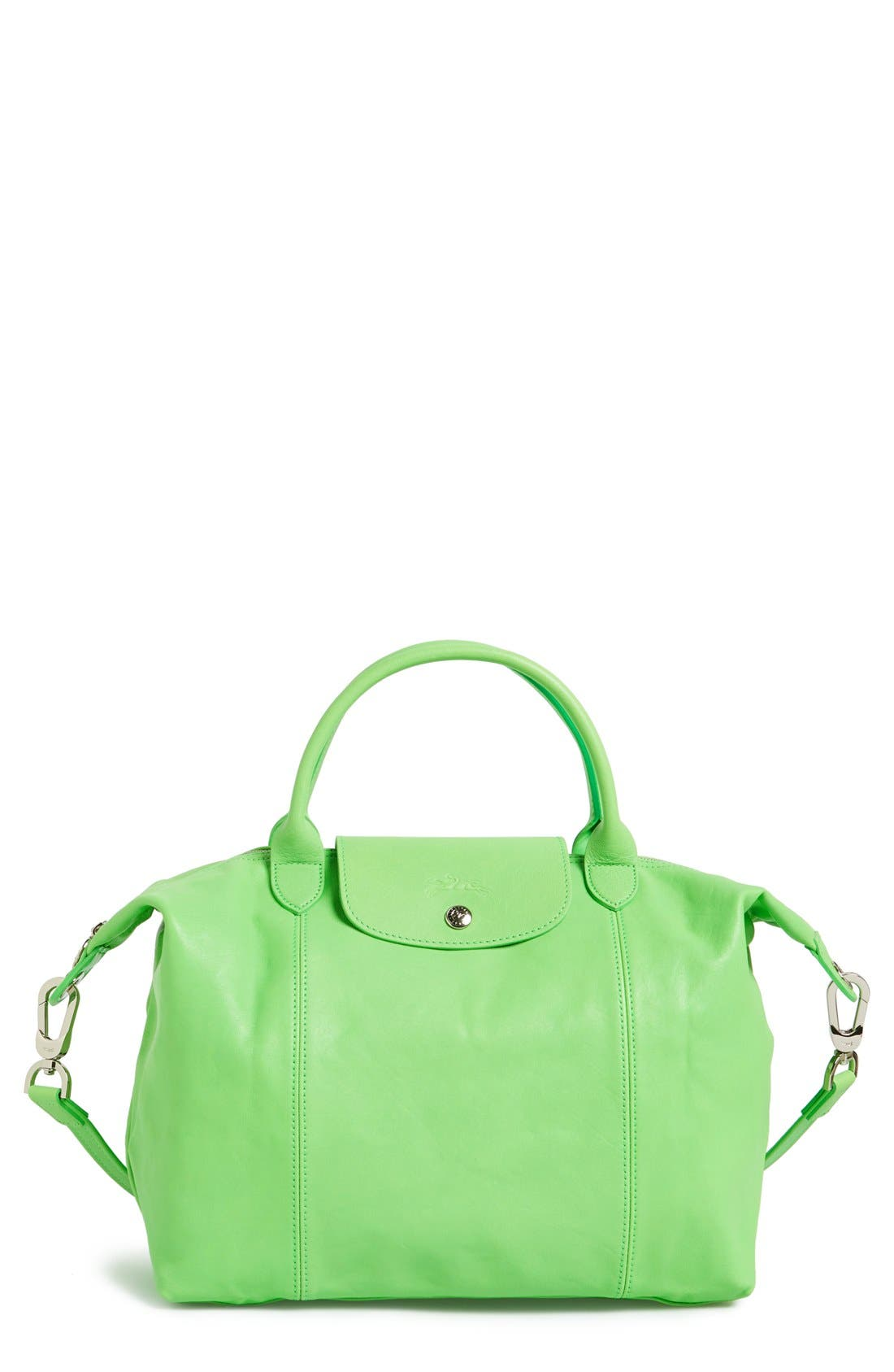 Medium 'Le Pliage Cuir' Leather Top Handle Tote,                             Main thumbnail 14, color,