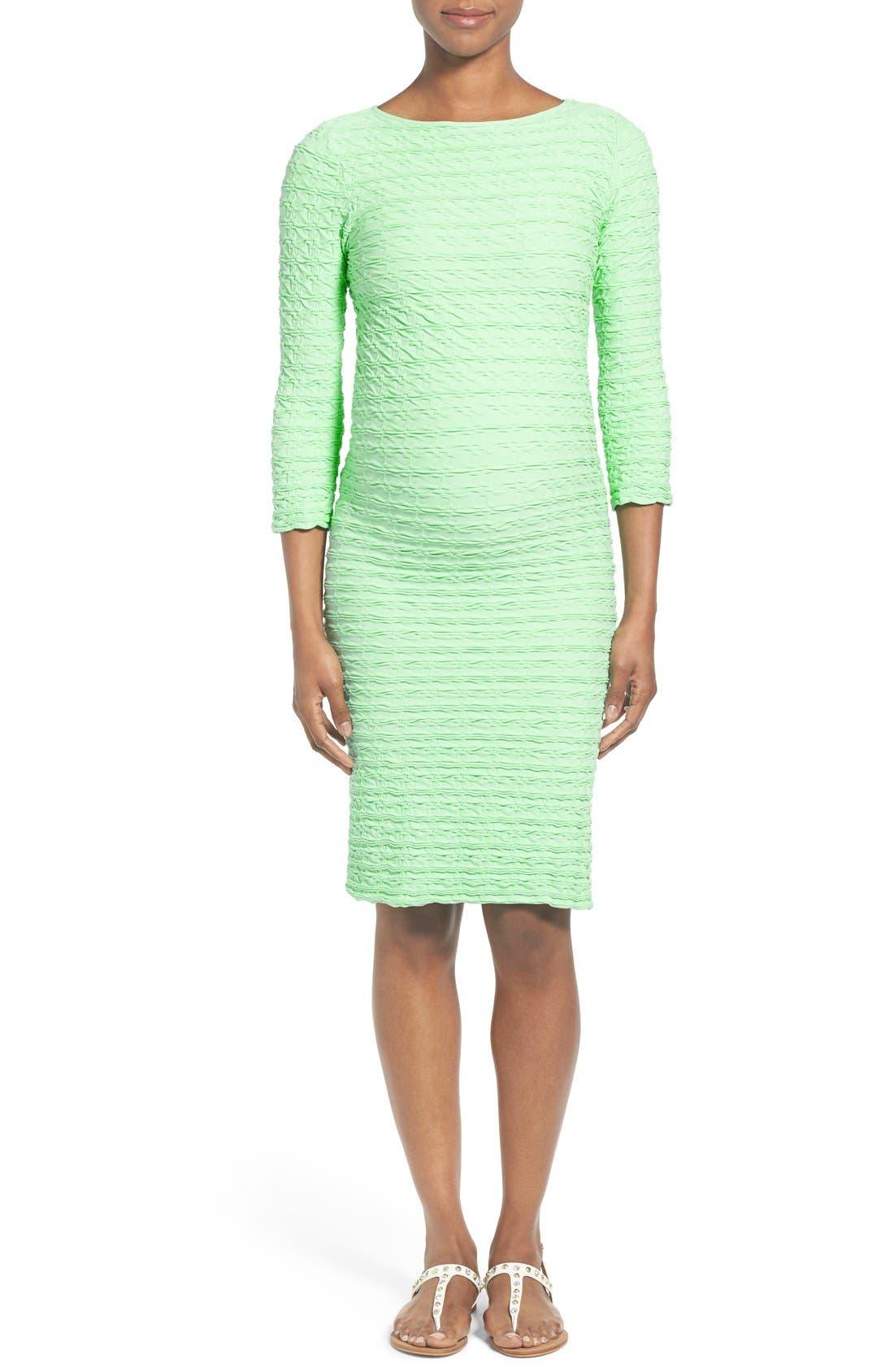 'Crinkle' Maternity Midi Dress,                             Main thumbnail 4, color,