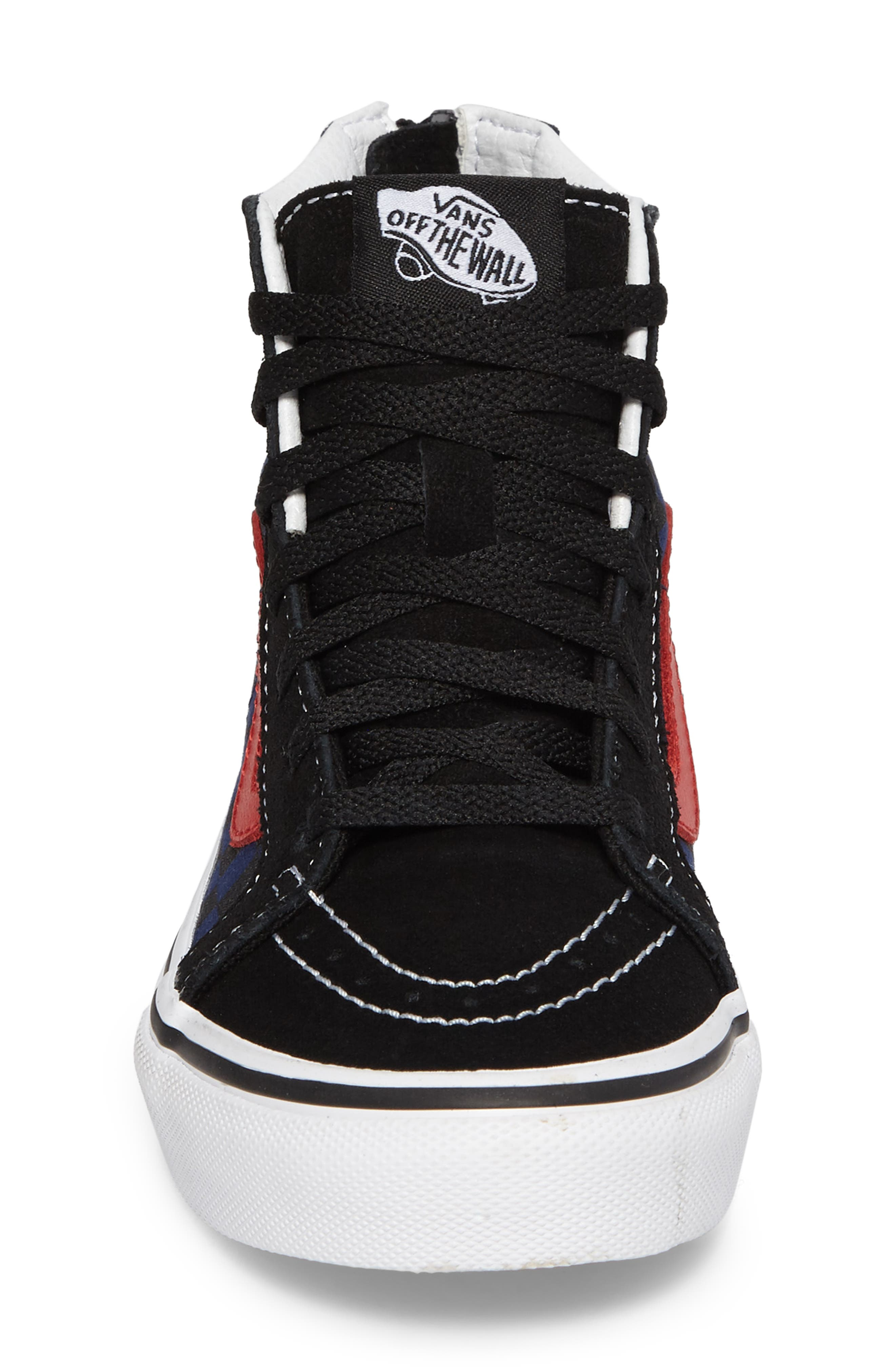 SK8-Hi Zip Sneaker,                             Alternate thumbnail 4, color,                             001