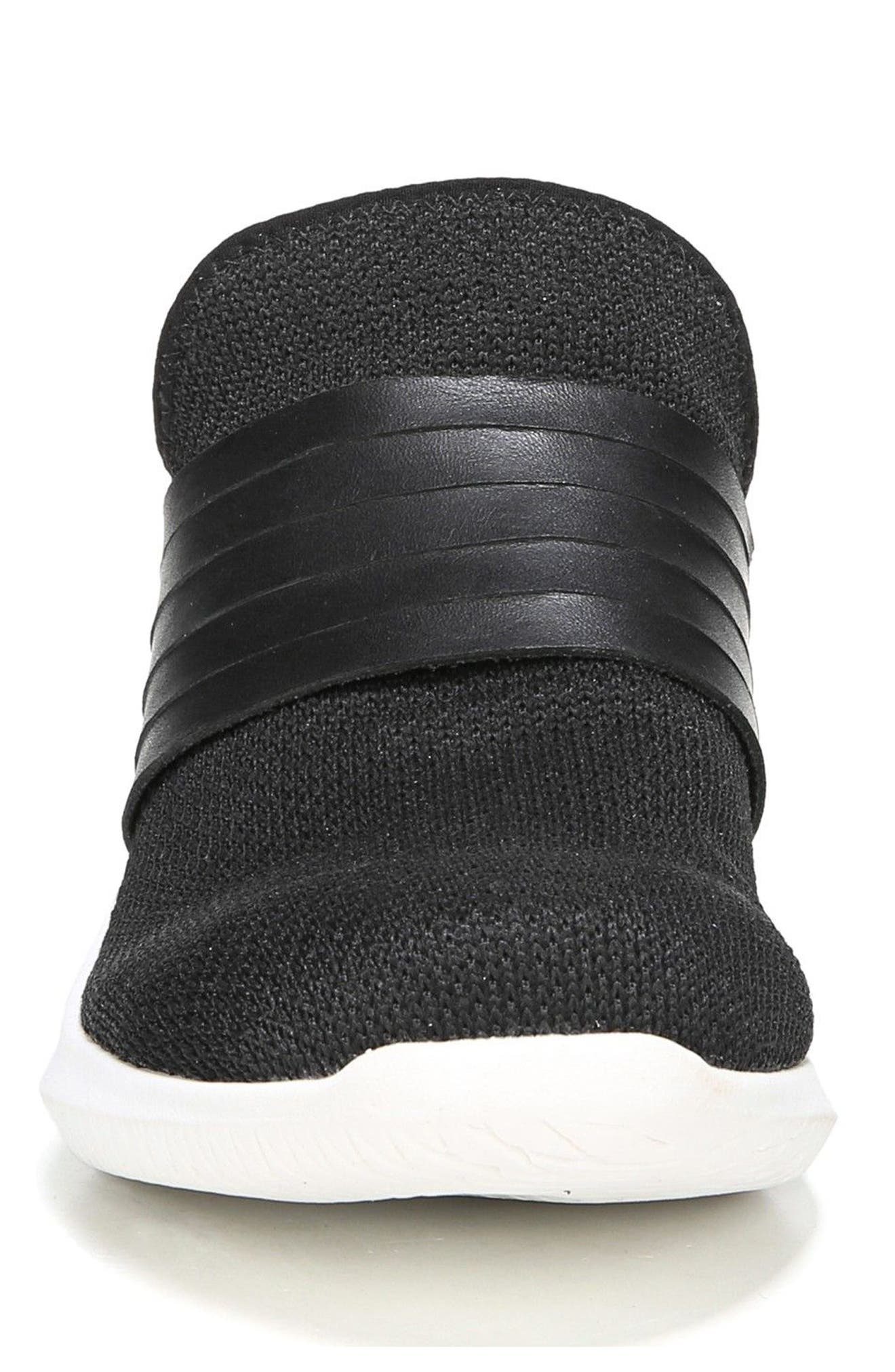 Fierceness Knit Slip-On Sneaker,                             Alternate thumbnail 4, color,                             001