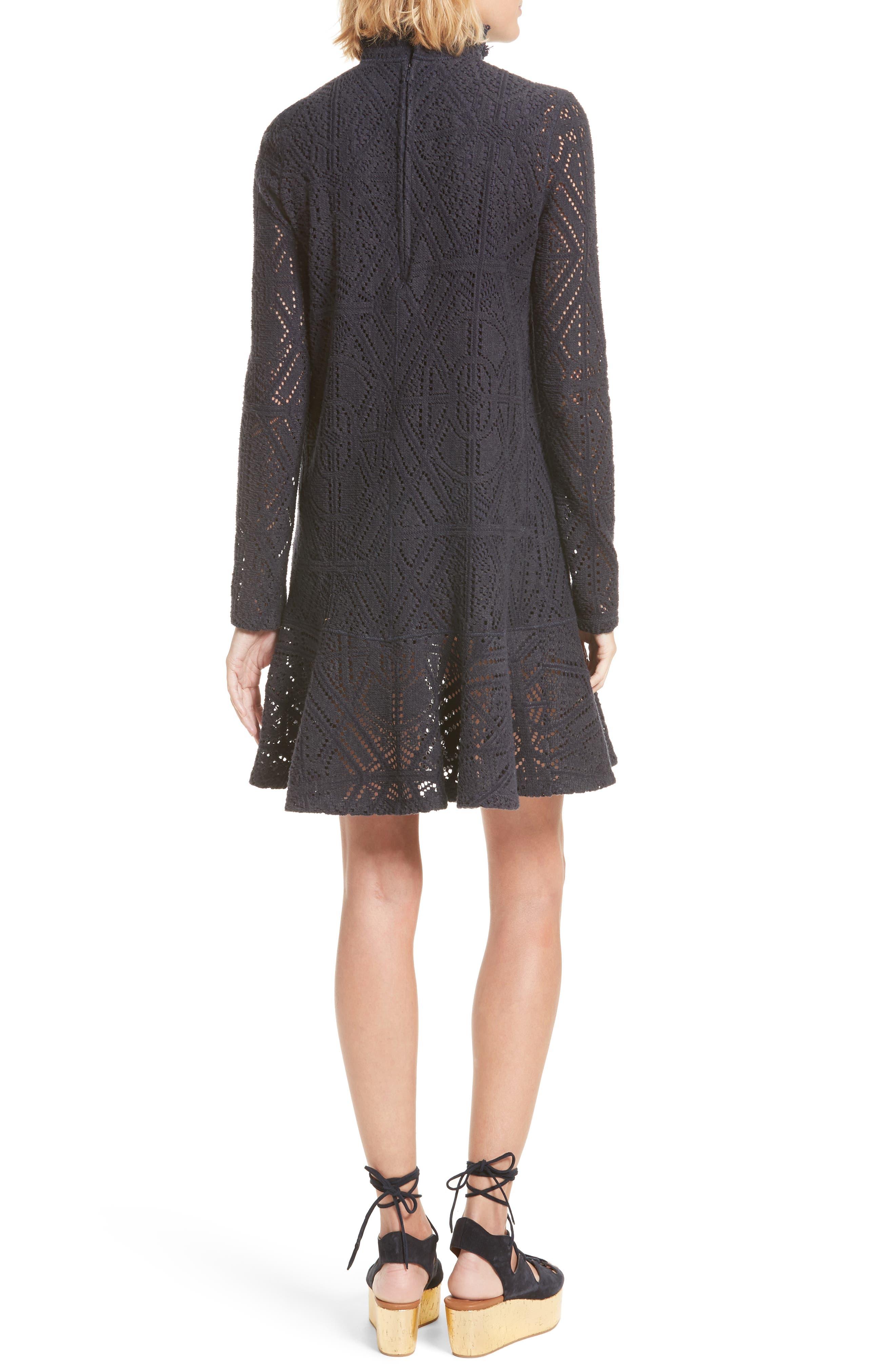 Lace Ruffle Hem Minidress,                             Alternate thumbnail 2, color,                             401