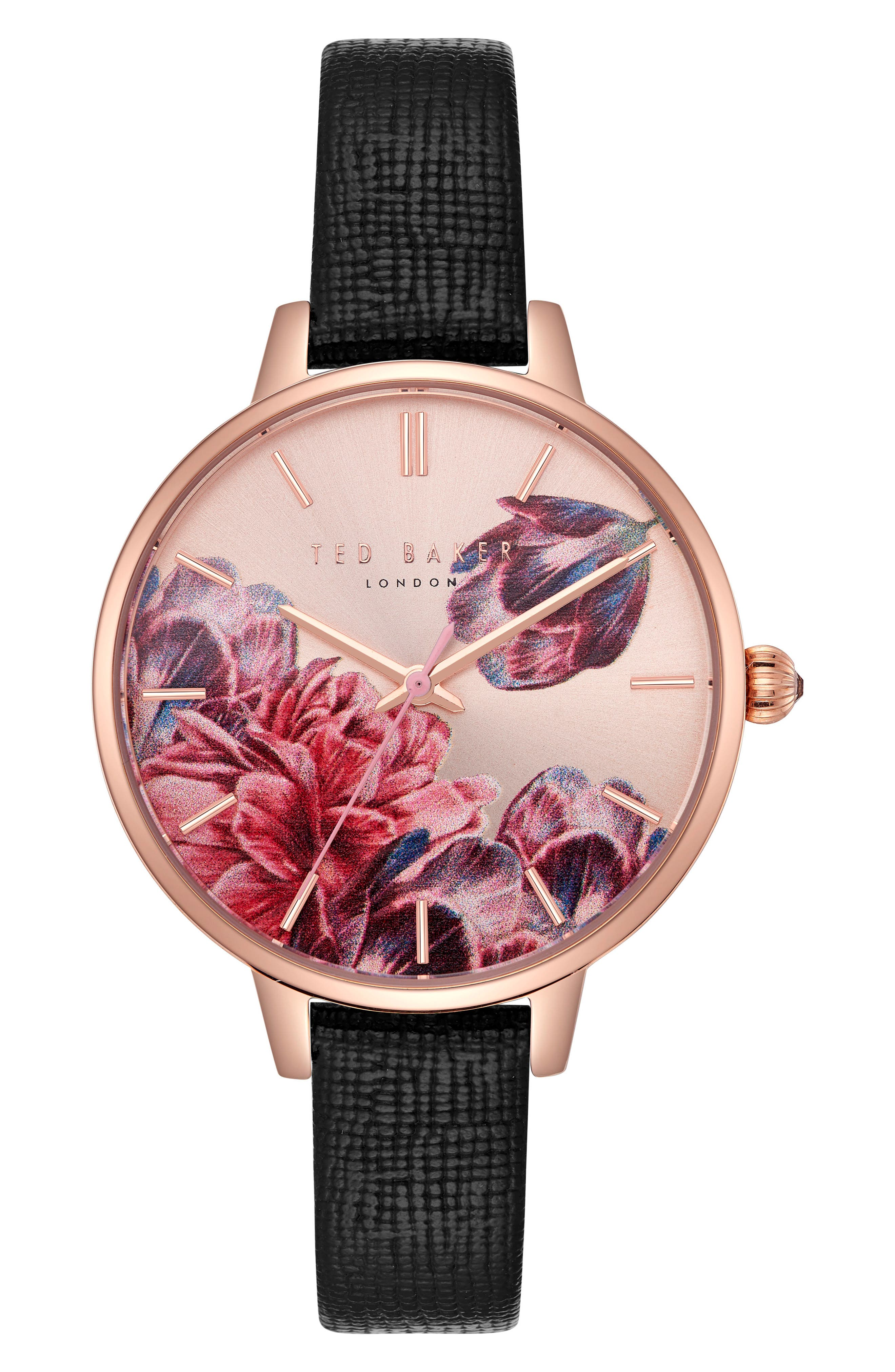 Kate Leather Strap Watch, 36mm,                         Main,                         color, 001
