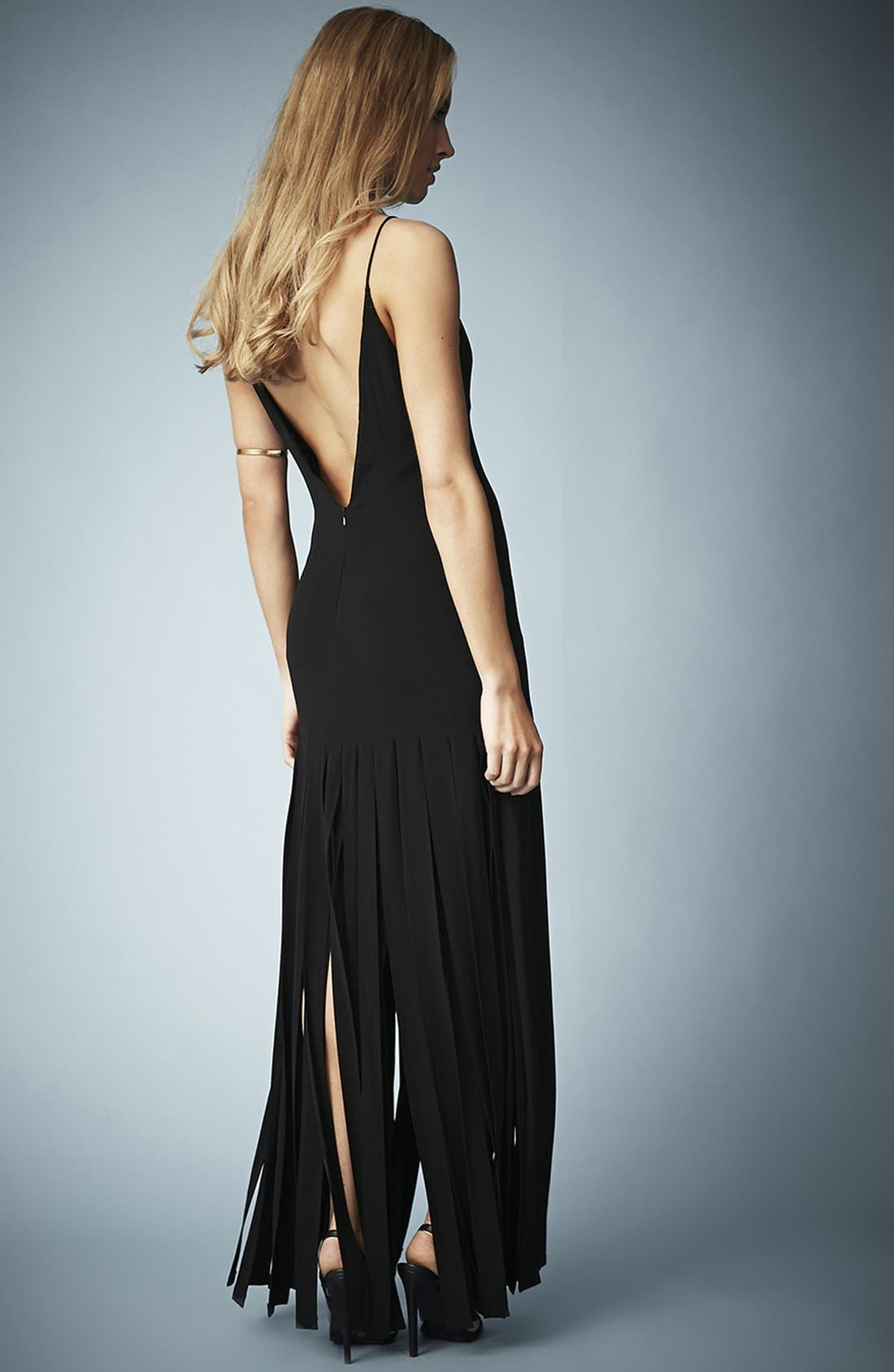 Kate Moss for Topshop Splice Skirt Maxi Dress,                             Alternate thumbnail 9, color,