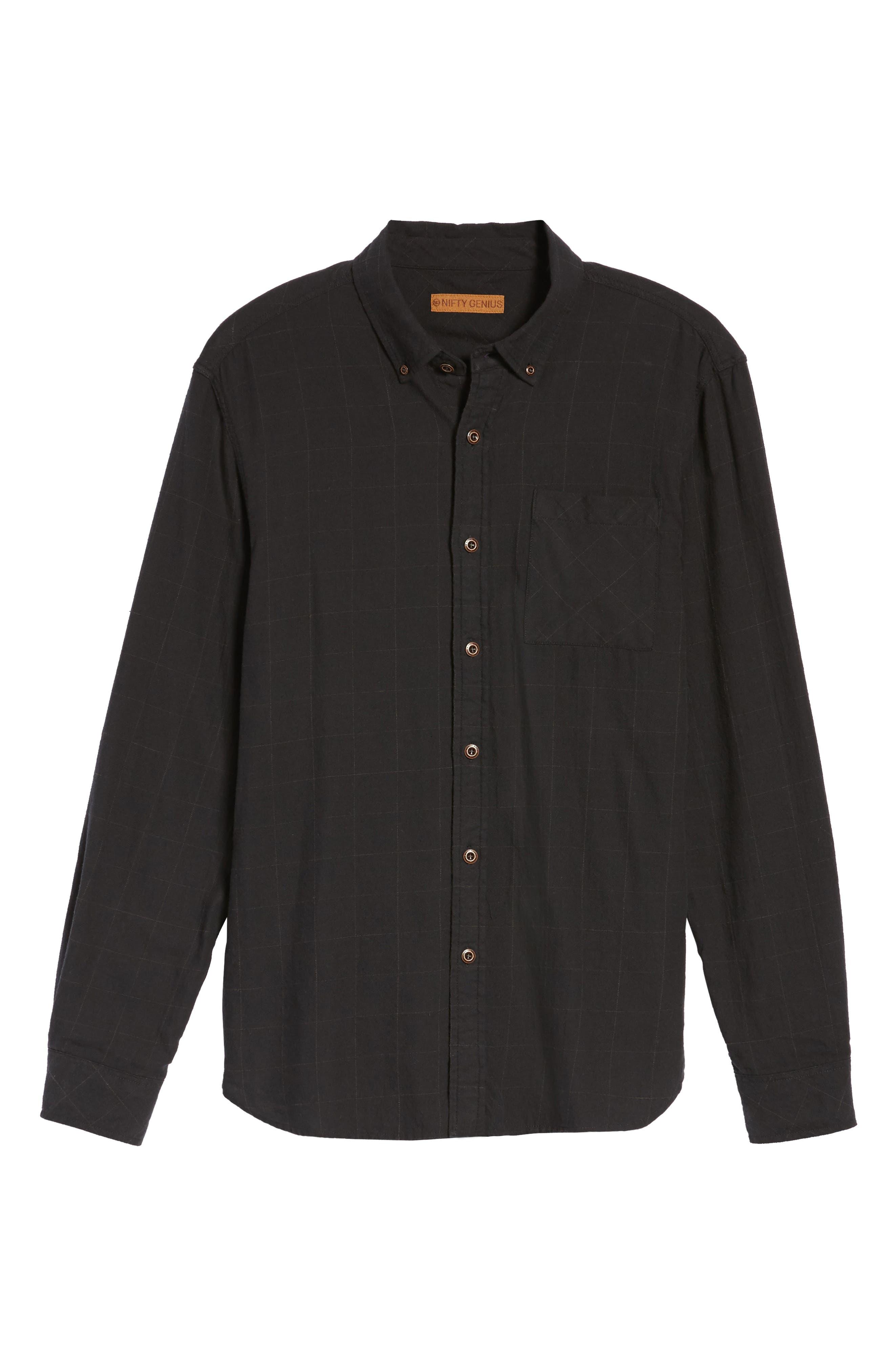 Tuman Windowpane Sport Shirt,                             Alternate thumbnail 6, color,                             001