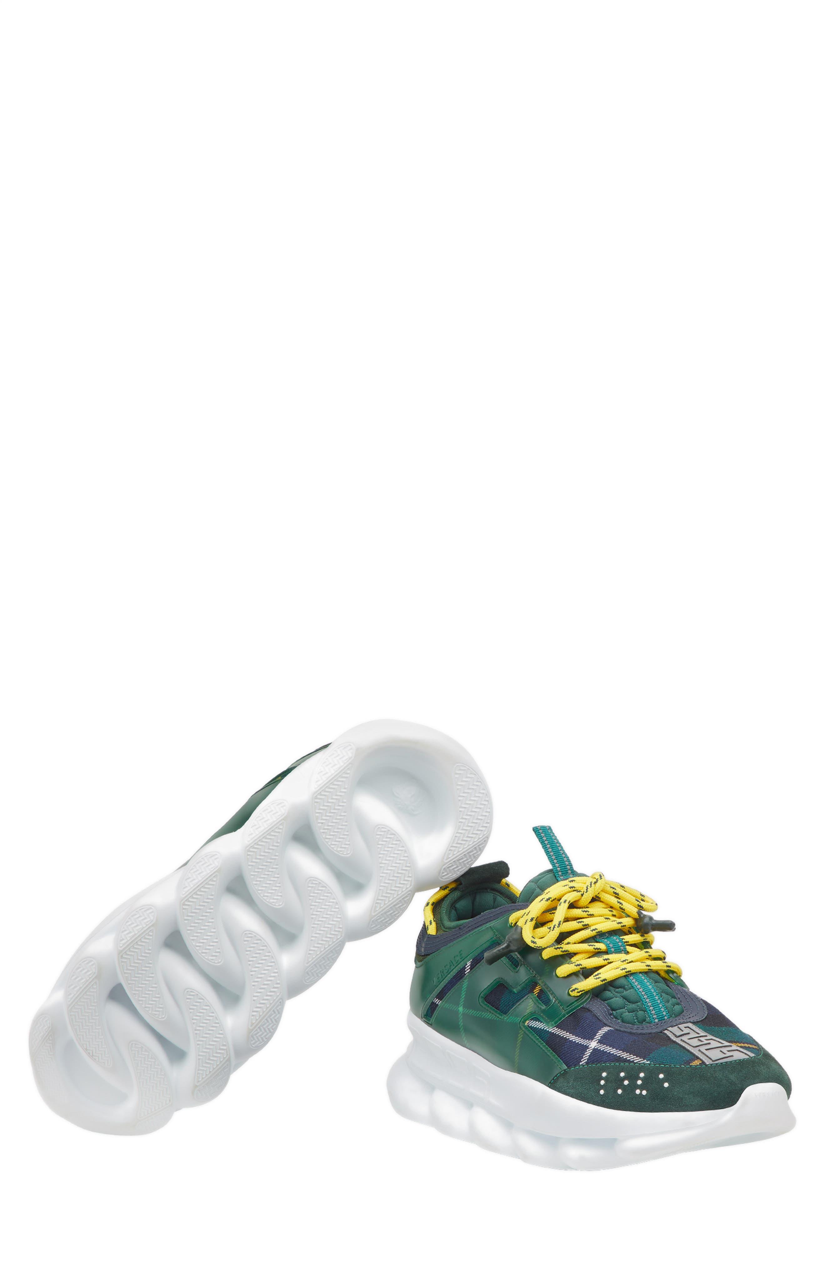 Chain Reaction Sneaker,                             Alternate thumbnail 5, color,                             VERDE/ GIALLO