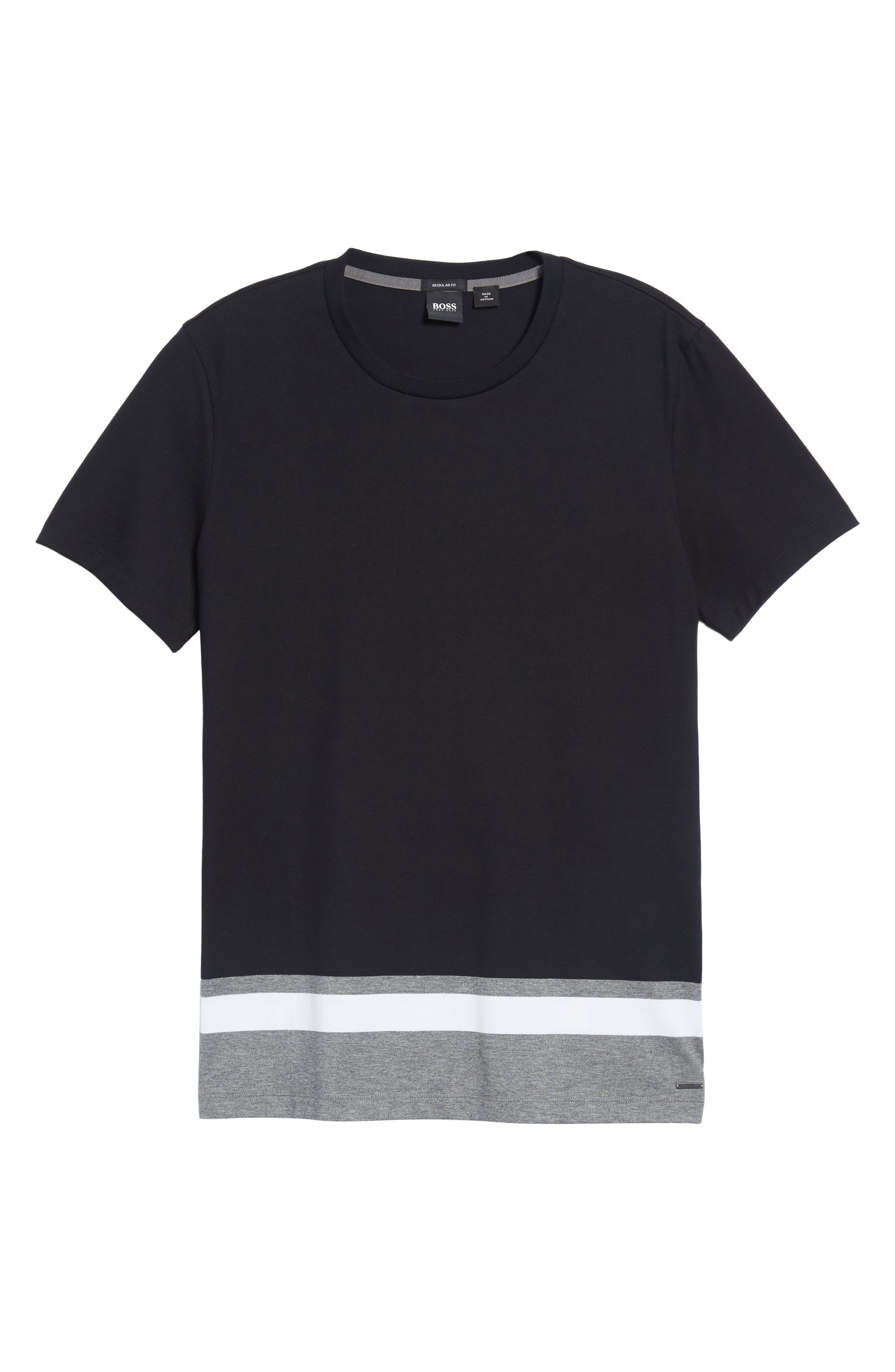 Tiburt Colorblock T-Shirt,                             Alternate thumbnail 6, color,                             001