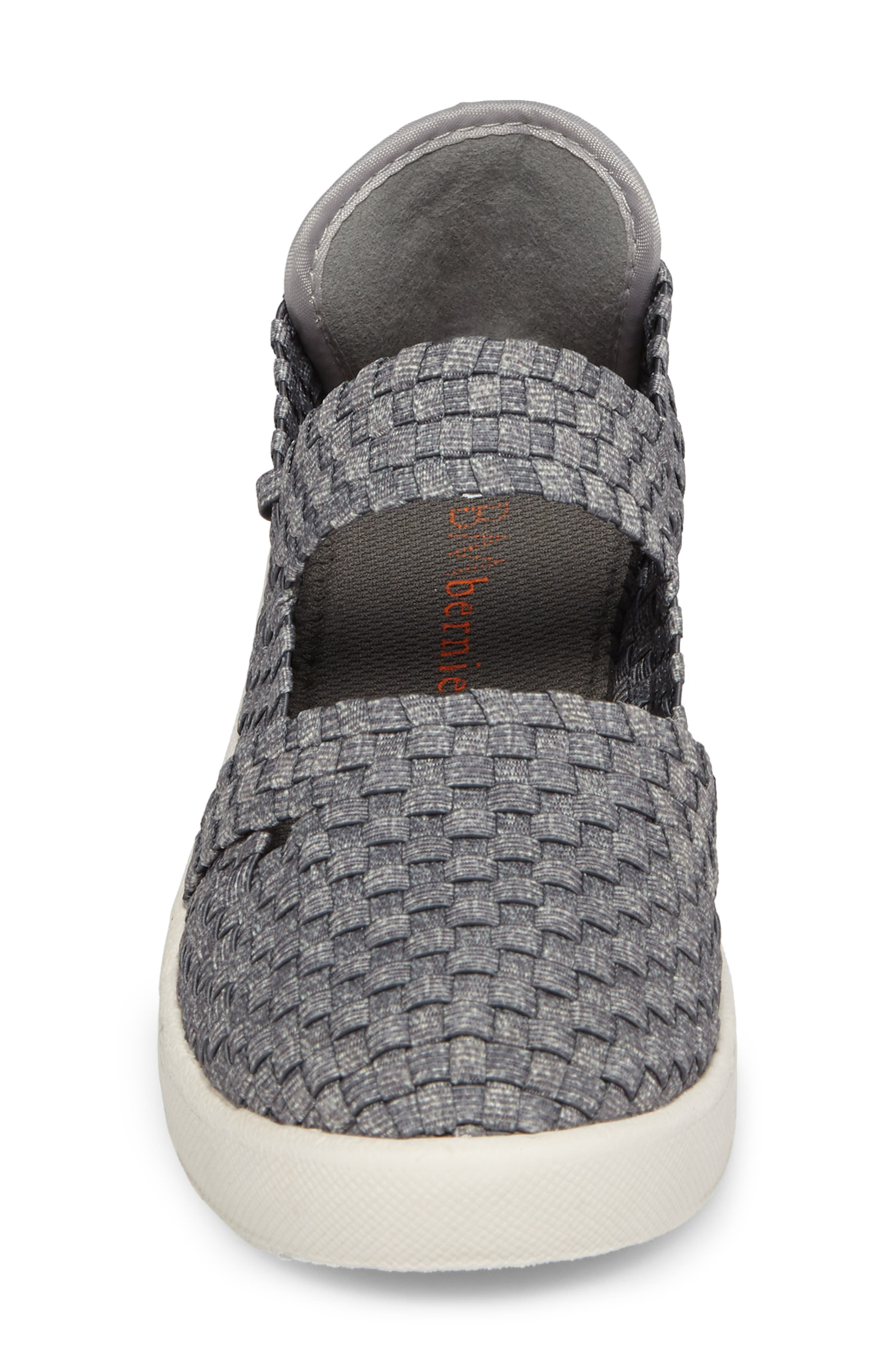 Frontier Woven Mary Jane Wedge,                             Alternate thumbnail 4, color,                             HEATHER GREY FABRIC
