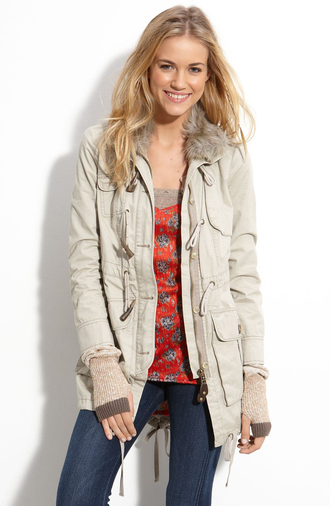 FREE PEOPLE Sweater Lined Parka, Main, color, 075