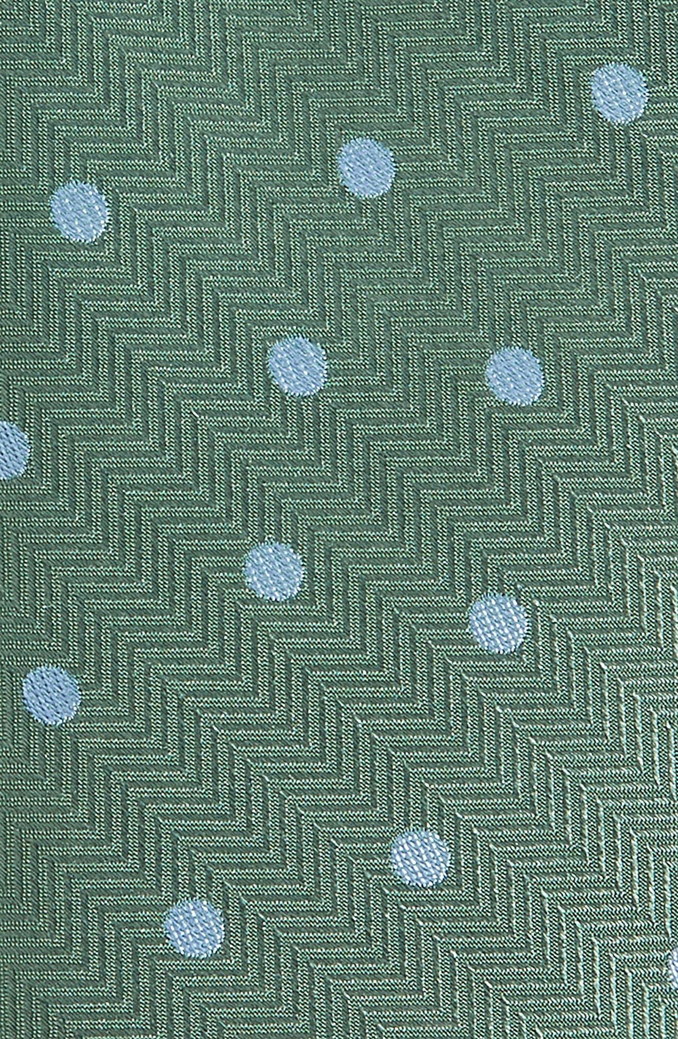 Jackson Dot Silk Tie,                             Alternate thumbnail 2, color,                             KELLY GREEN