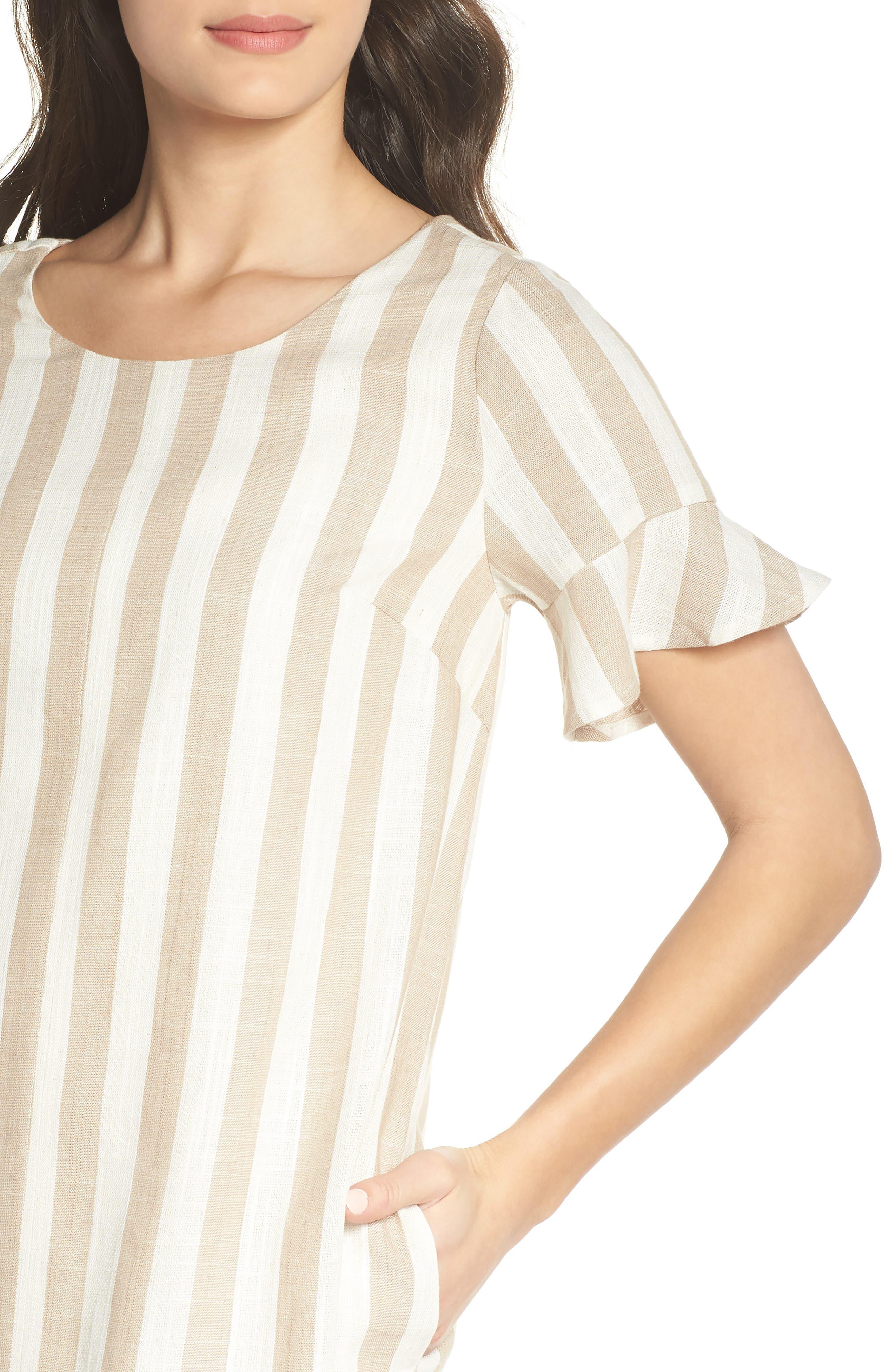 Back Tie Detail Shift Dress,                             Alternate thumbnail 4, color,                             250