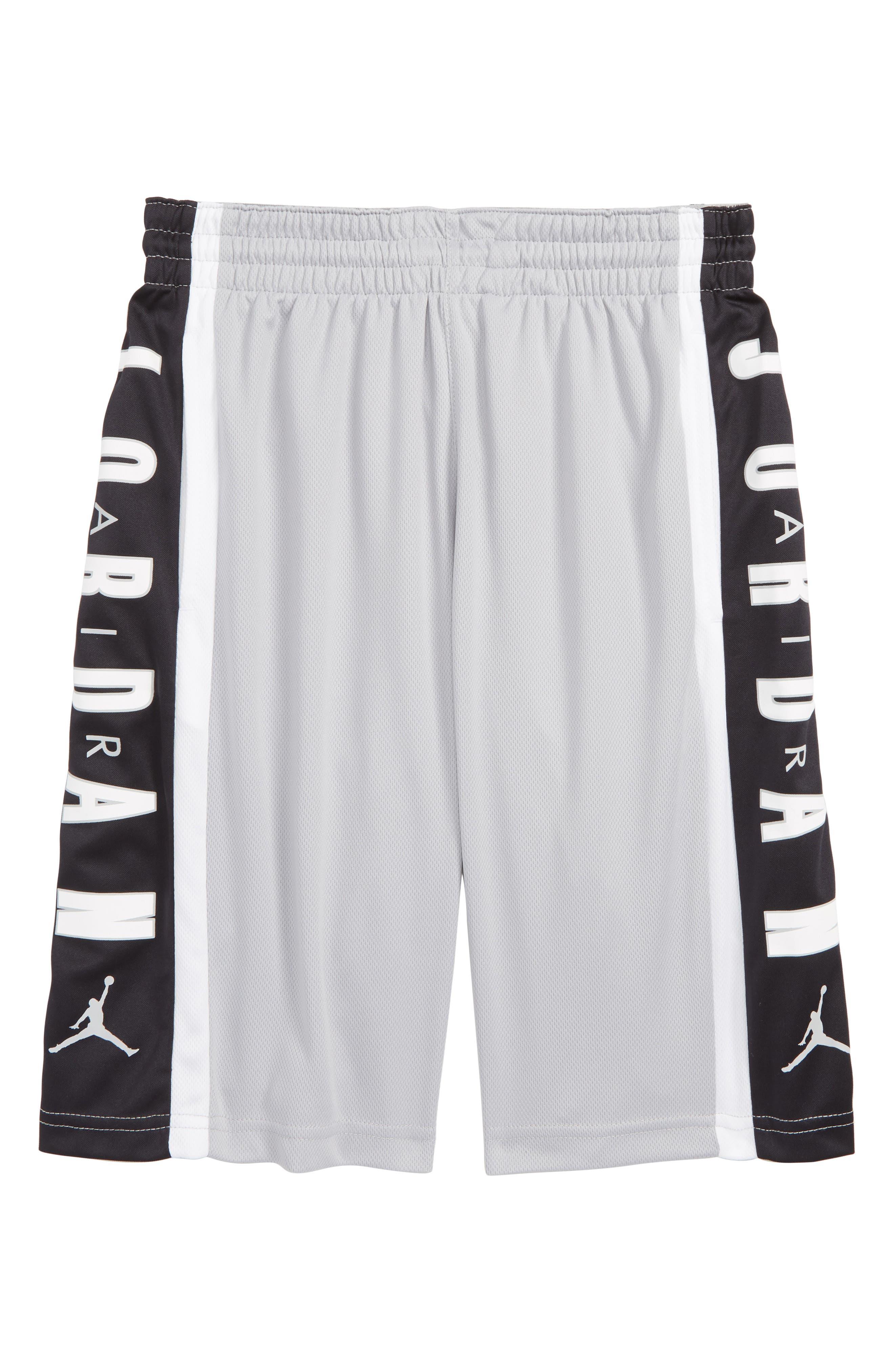 Rise3 Dri-FIT Basketball Shorts,                             Main thumbnail 1, color,                             LIGHT SMOKE GREY