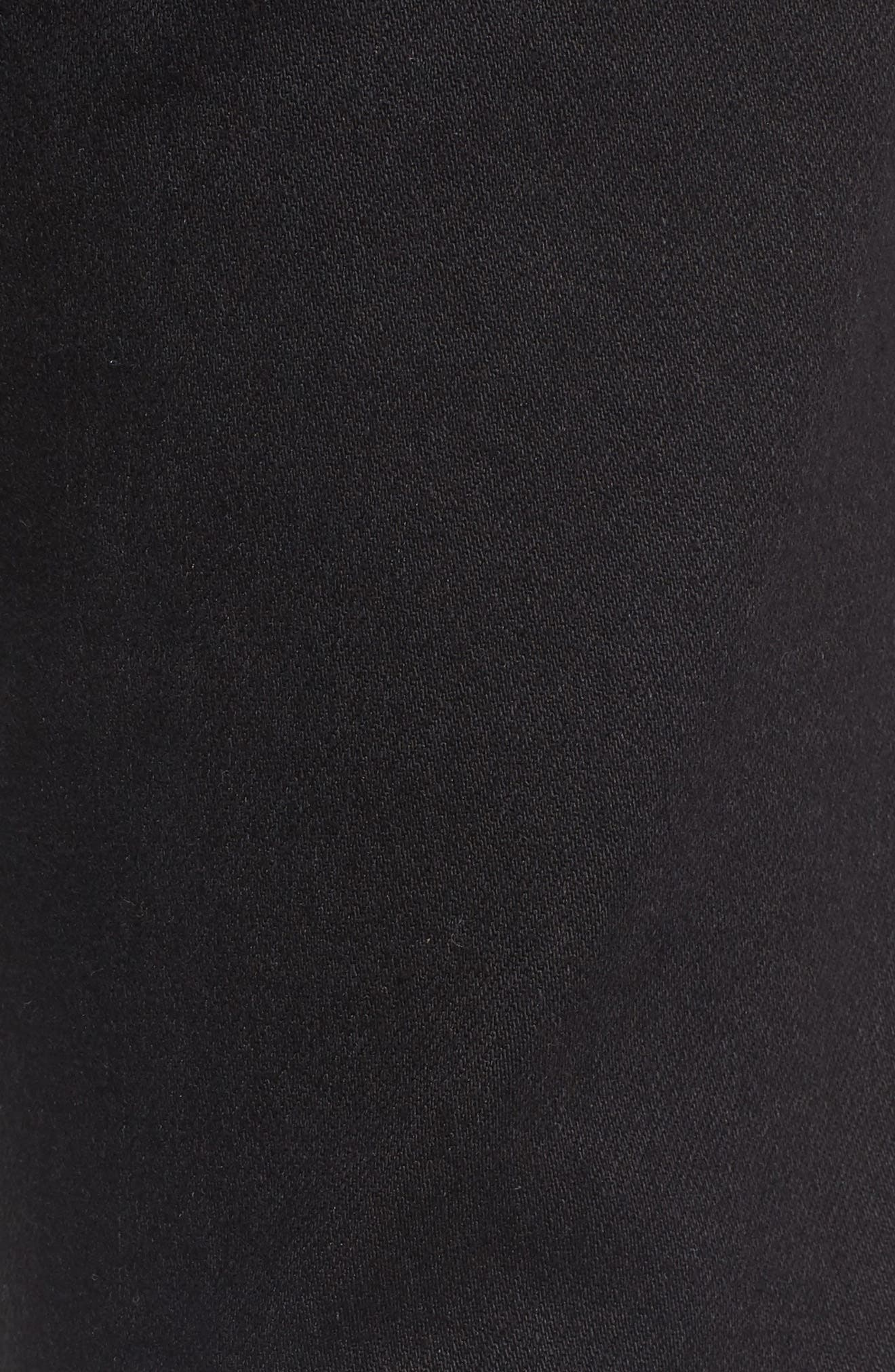 Juvee II Flooded Skinny Fit Jeans,                             Alternate thumbnail 5, color,                             001