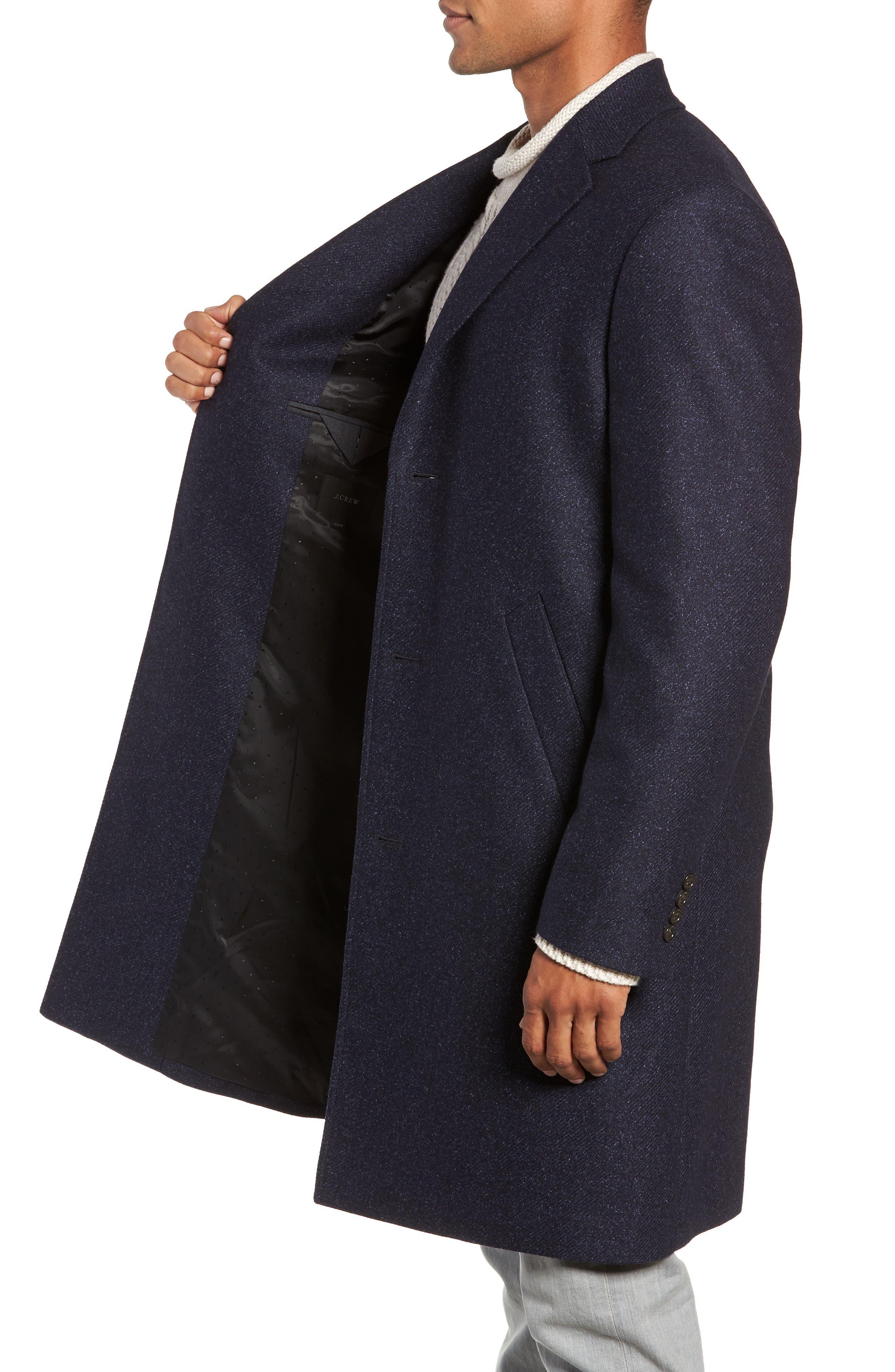 Destination Water Resistant Tweed Topcoat,                             Alternate thumbnail 3, color,                             400