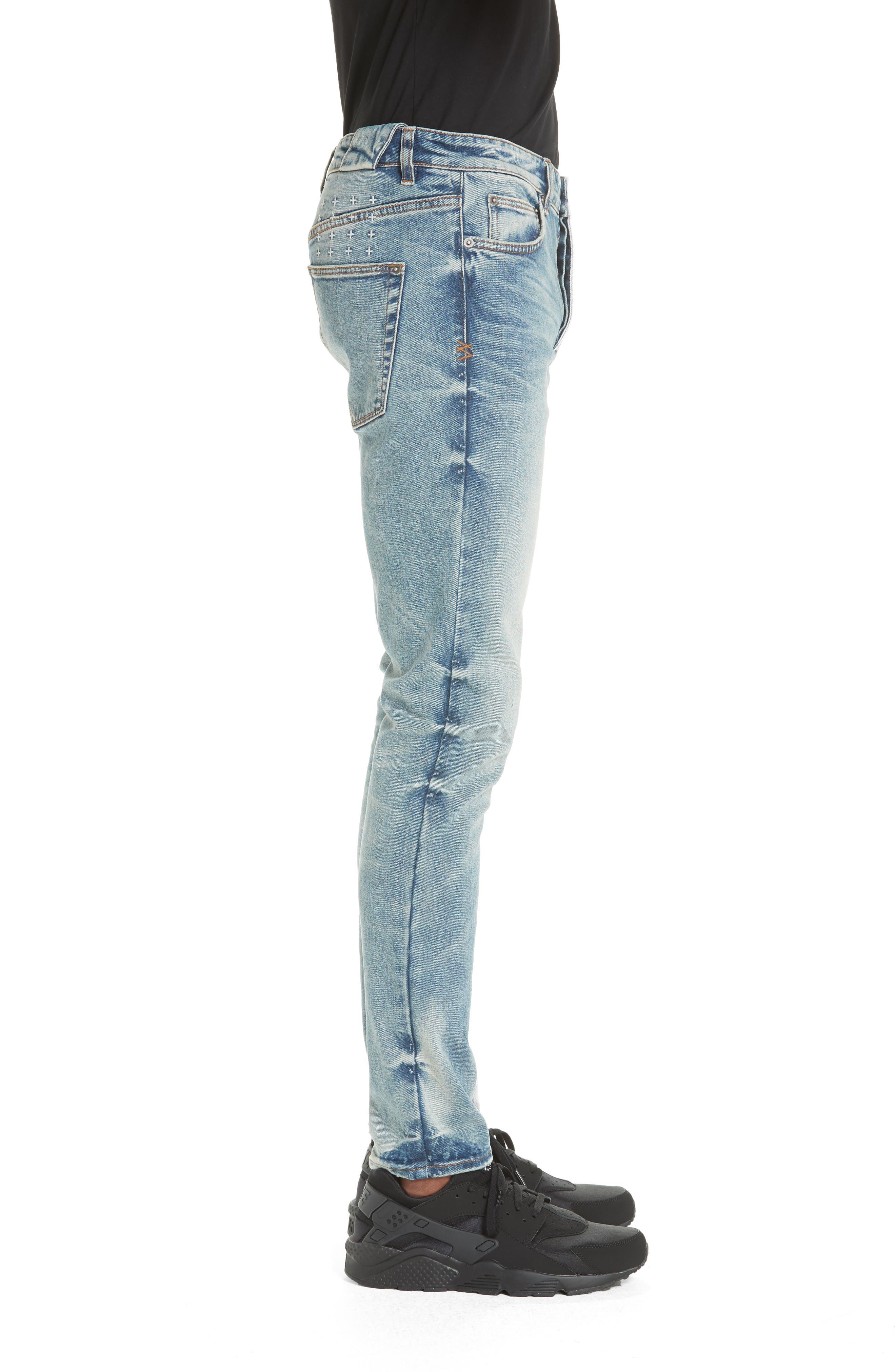 Chitch Pure Dynamite Skinny Fit Jeans,                             Alternate thumbnail 3, color,                             DENIM