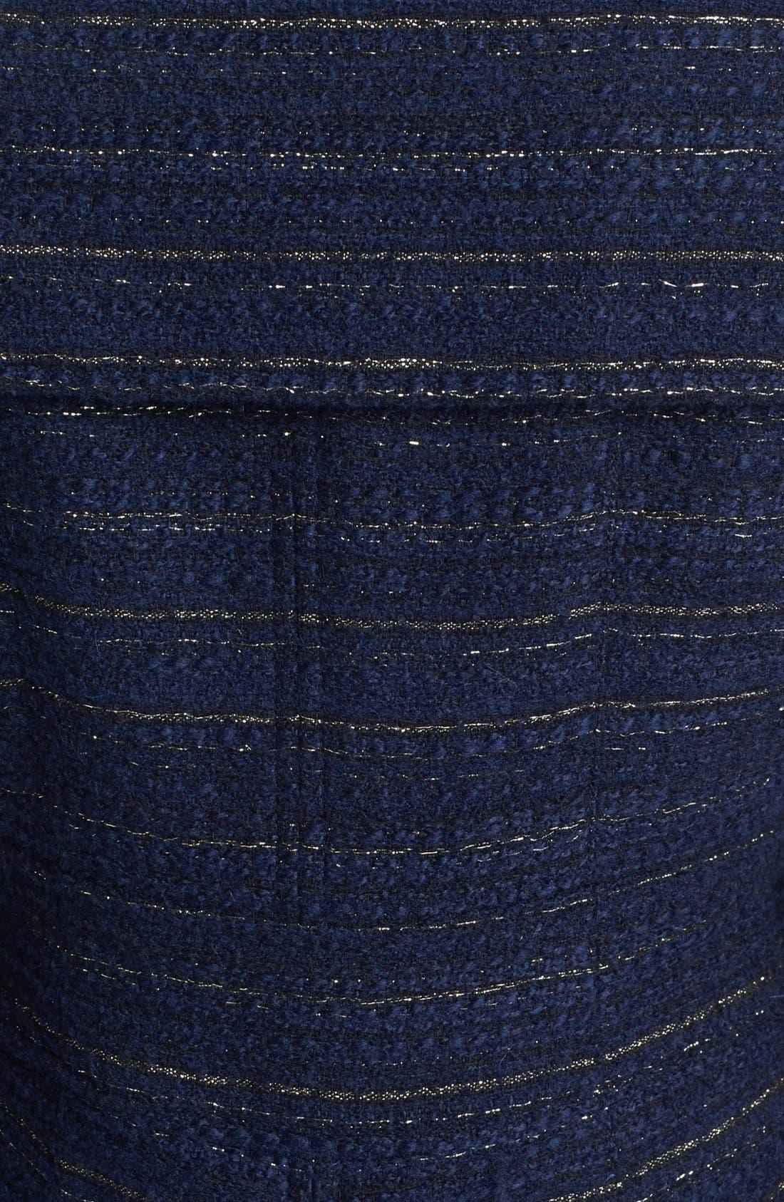 Metallic Tweed Walking Coat,                             Alternate thumbnail 4, color,