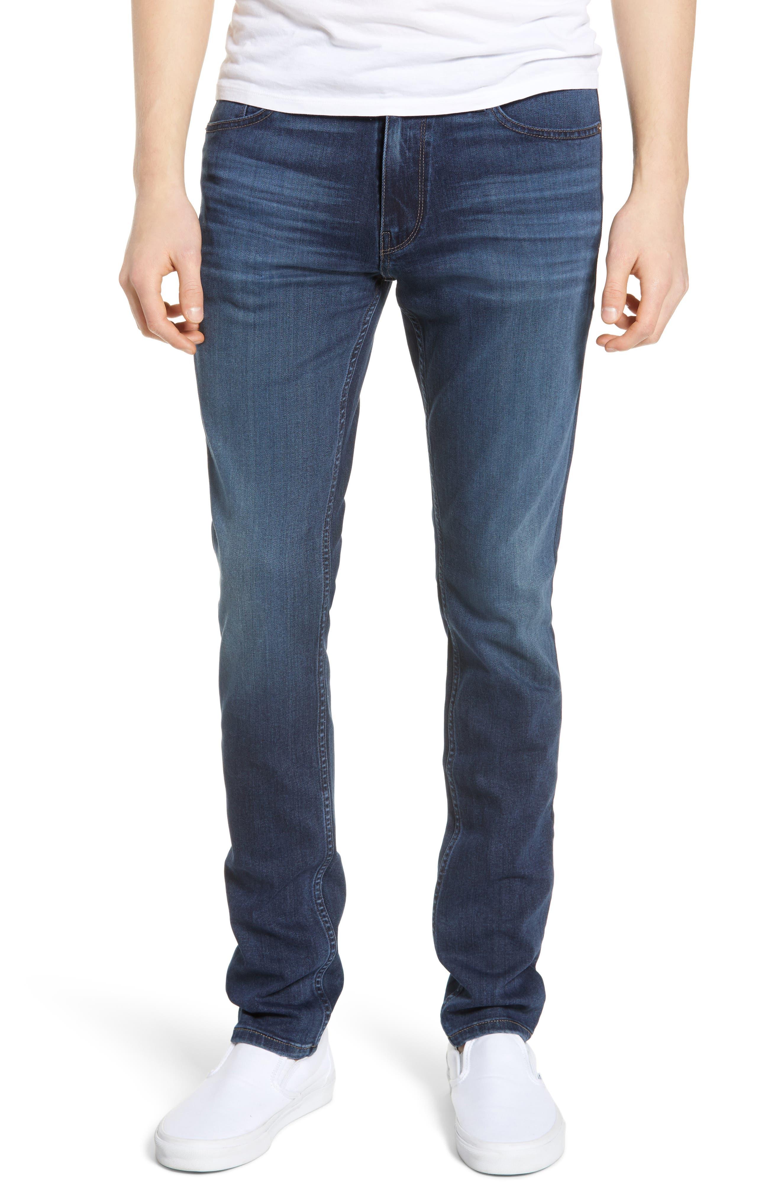 Transcend - Croft Skinny Fit Jeans,                             Main thumbnail 1, color,                             HUXLEY