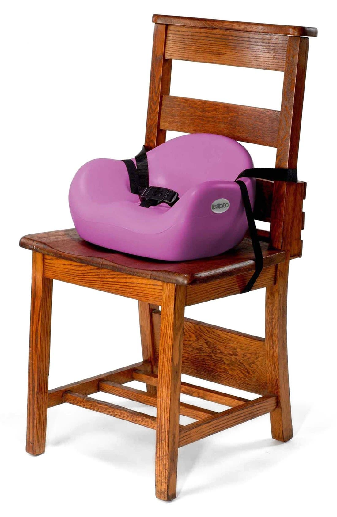 Café Booster Seat,                             Alternate thumbnail 3, color,                             RASPBERRY