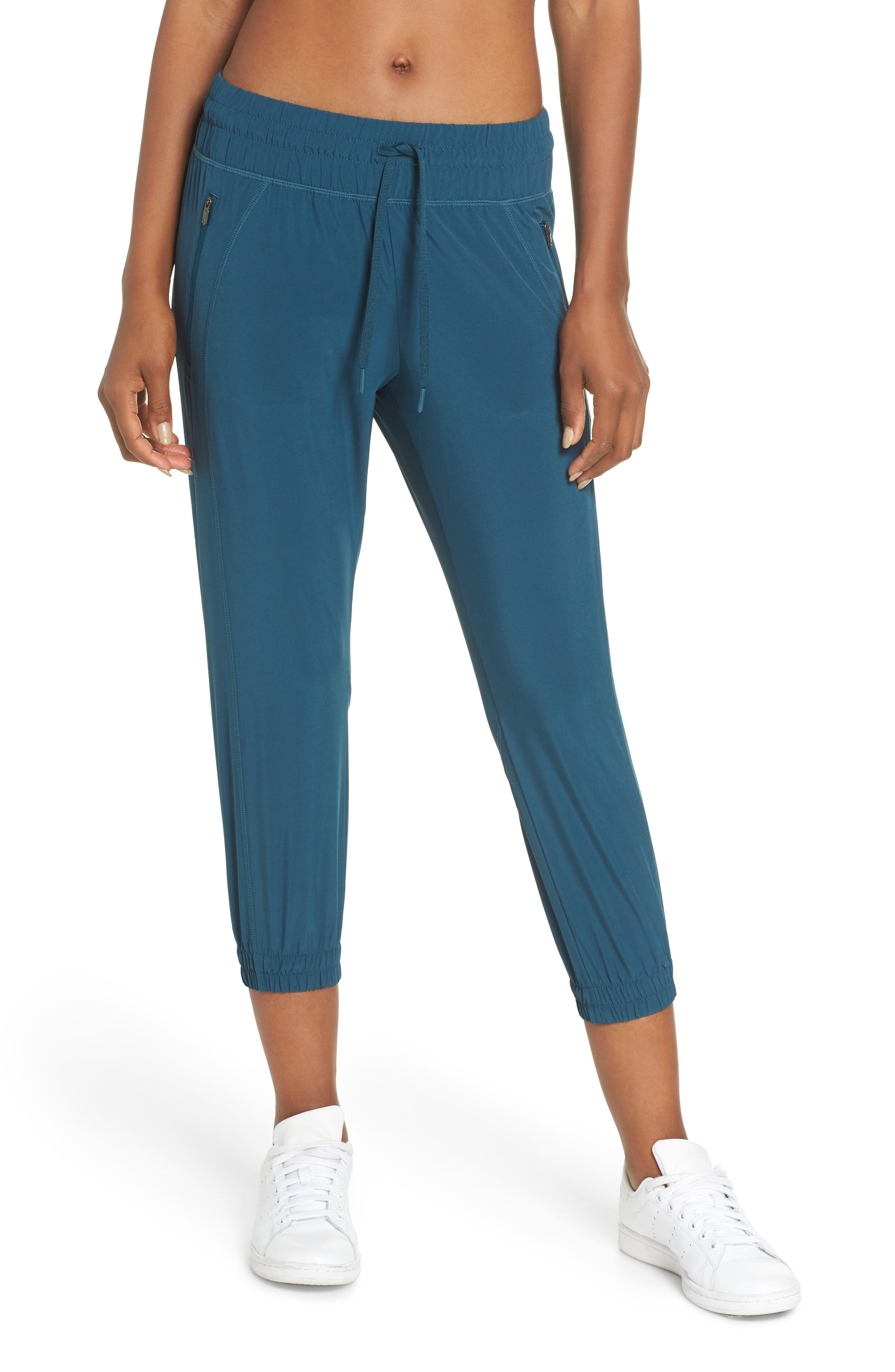 Out & About 2 Crop Pants,                         Main,                         color, TEAL ABYSS
