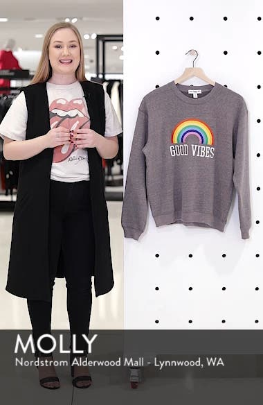Good Vibes Rainbow Sweatshirt, sales video thumbnail