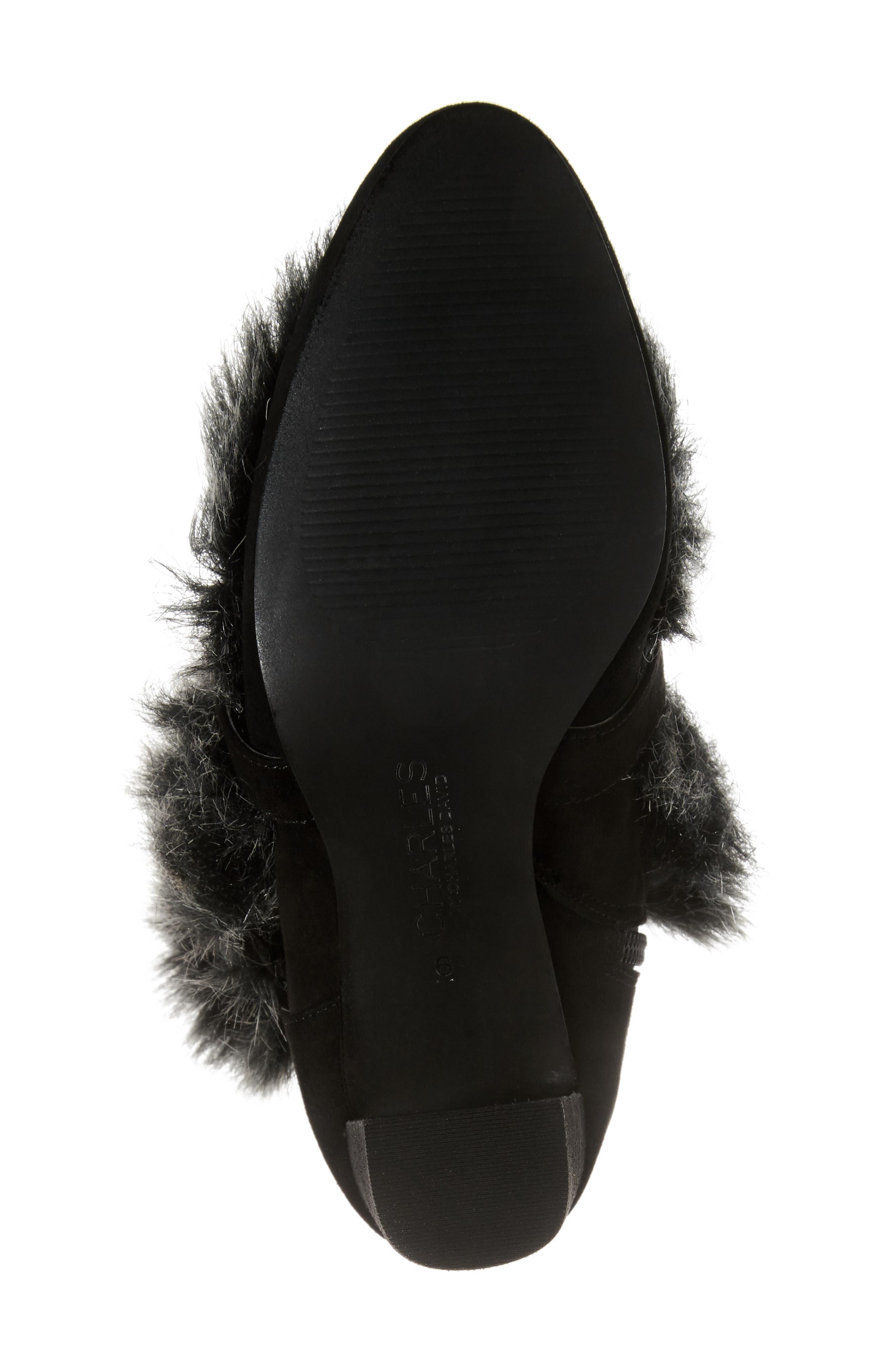 Alberta Faux Fur Boot,                             Alternate thumbnail 6, color,                             001