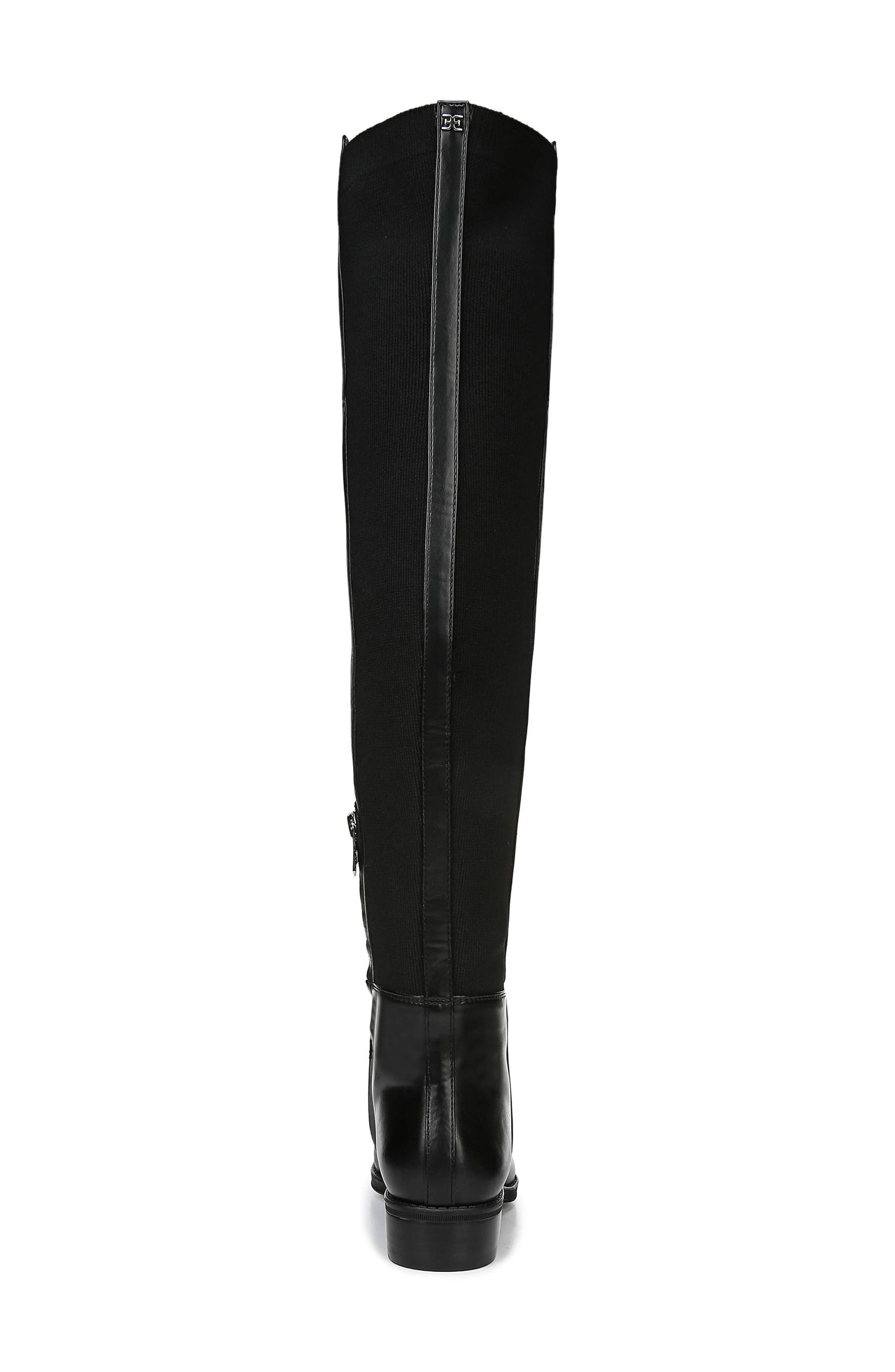 Pam Over the Knee Boot,                             Alternate thumbnail 7, color,                             BLACK LEATHER