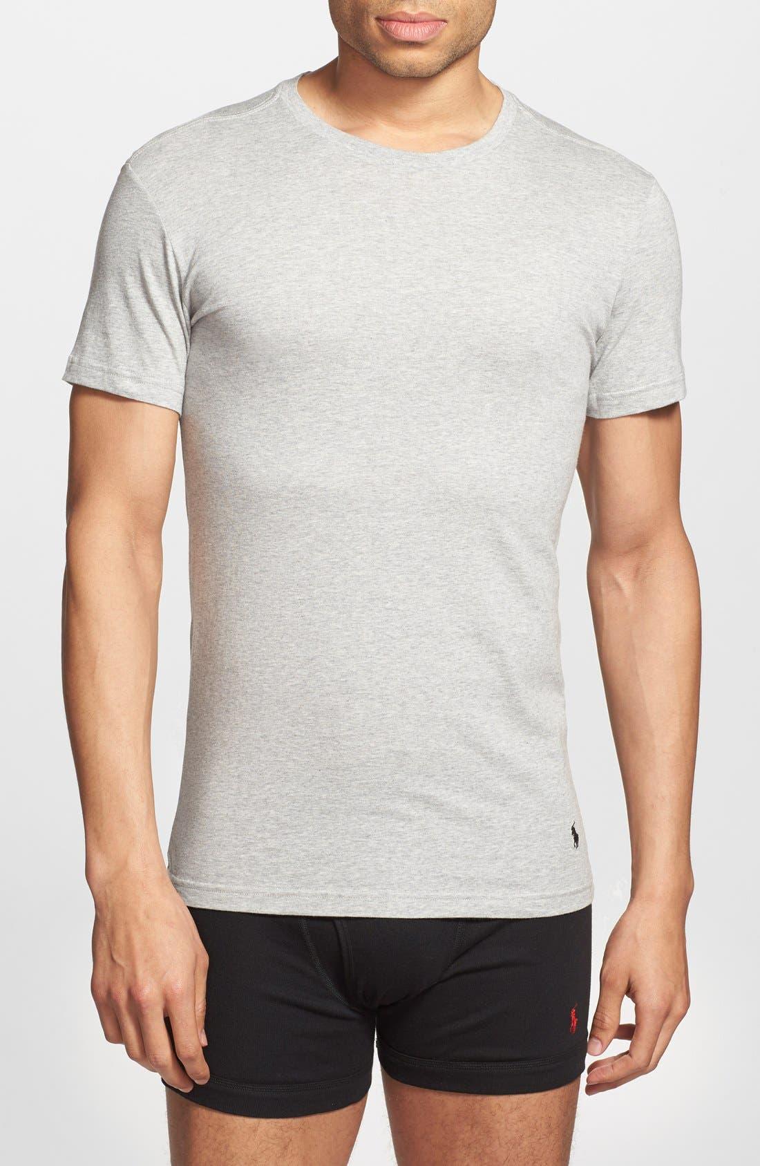 3-Pack Slim Fit T-Shirt,                             Alternate thumbnail 2, color,                             BLACK/ GREY/ CHARCOAL