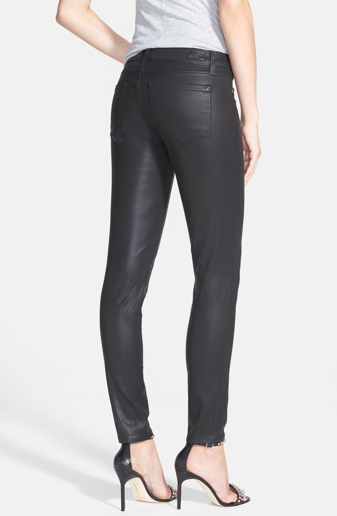 'Verdugo' Coated Ultra Skinny Ankle Jeans,                             Alternate thumbnail 2, color,                             001