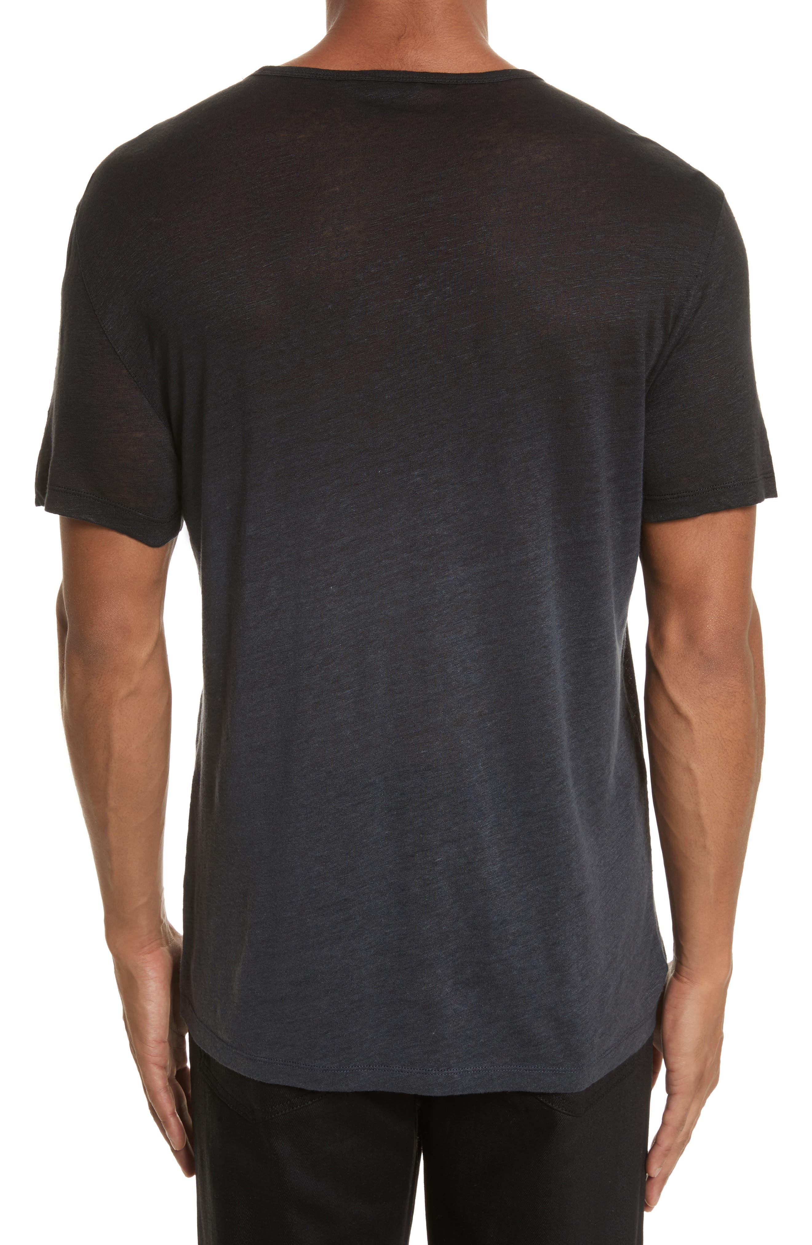 Dip Dyed Linen T-Shirt,                             Alternate thumbnail 2, color,                             001