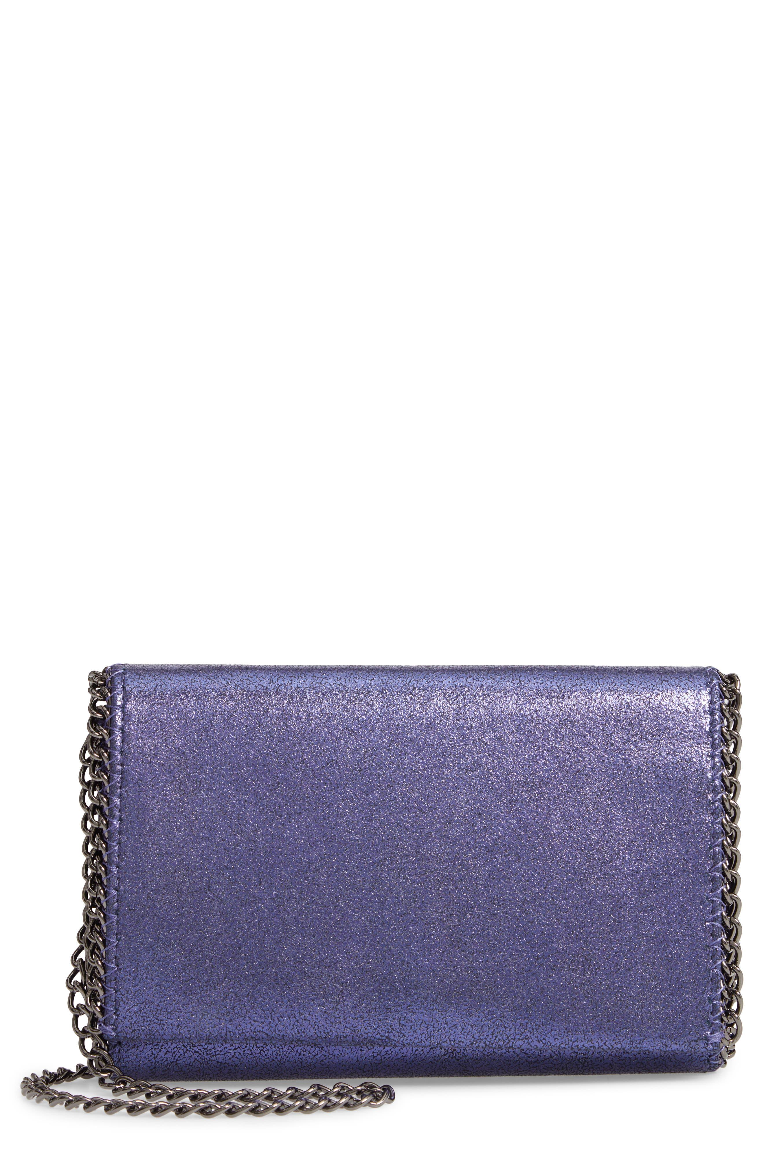 CHELSEA28 Faux Leather Wallet on a Chain, Main, color, BLUE MONACO