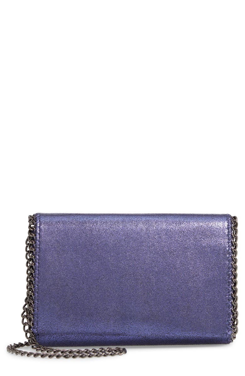 CHELSEA28 Faux Leather Wallet on a Chain, Main, color, BLUE MONACO