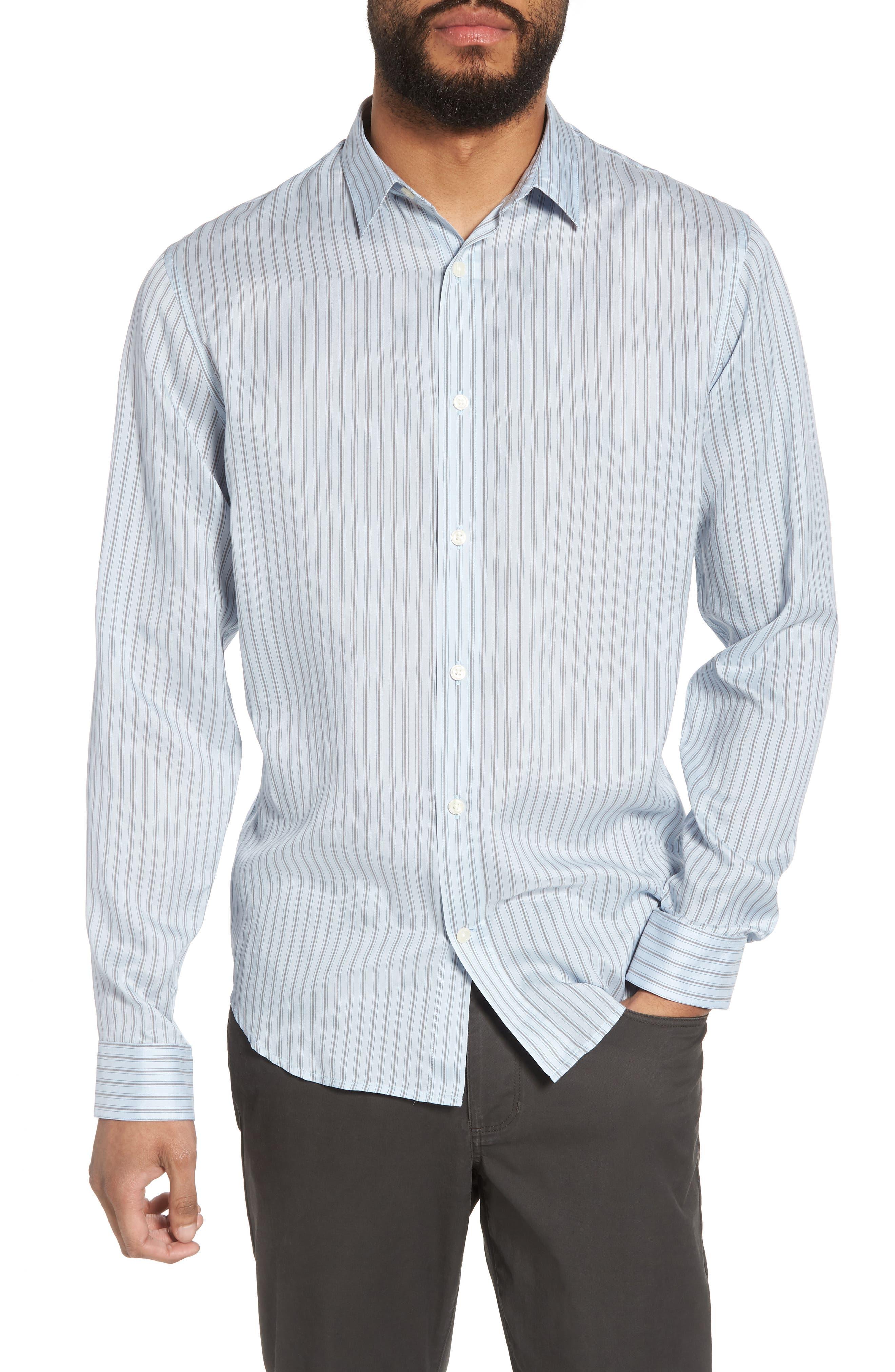 Slim Fit Stretch Stripe Sport Shirt,                         Main,                         color, 461