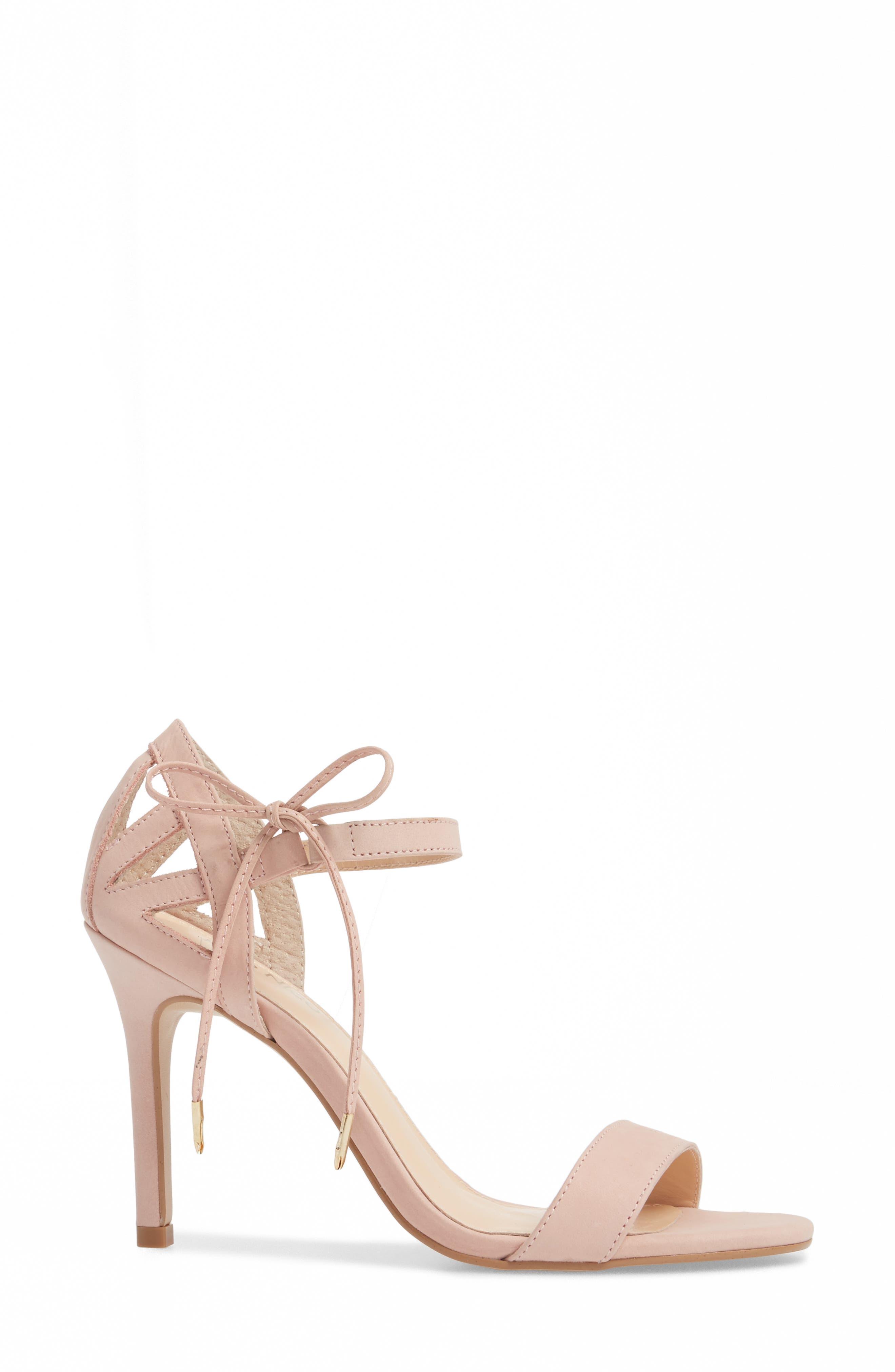 Adelyn Bow Tie Sandal,                             Alternate thumbnail 3, color,                             QUARTZ LEATHER