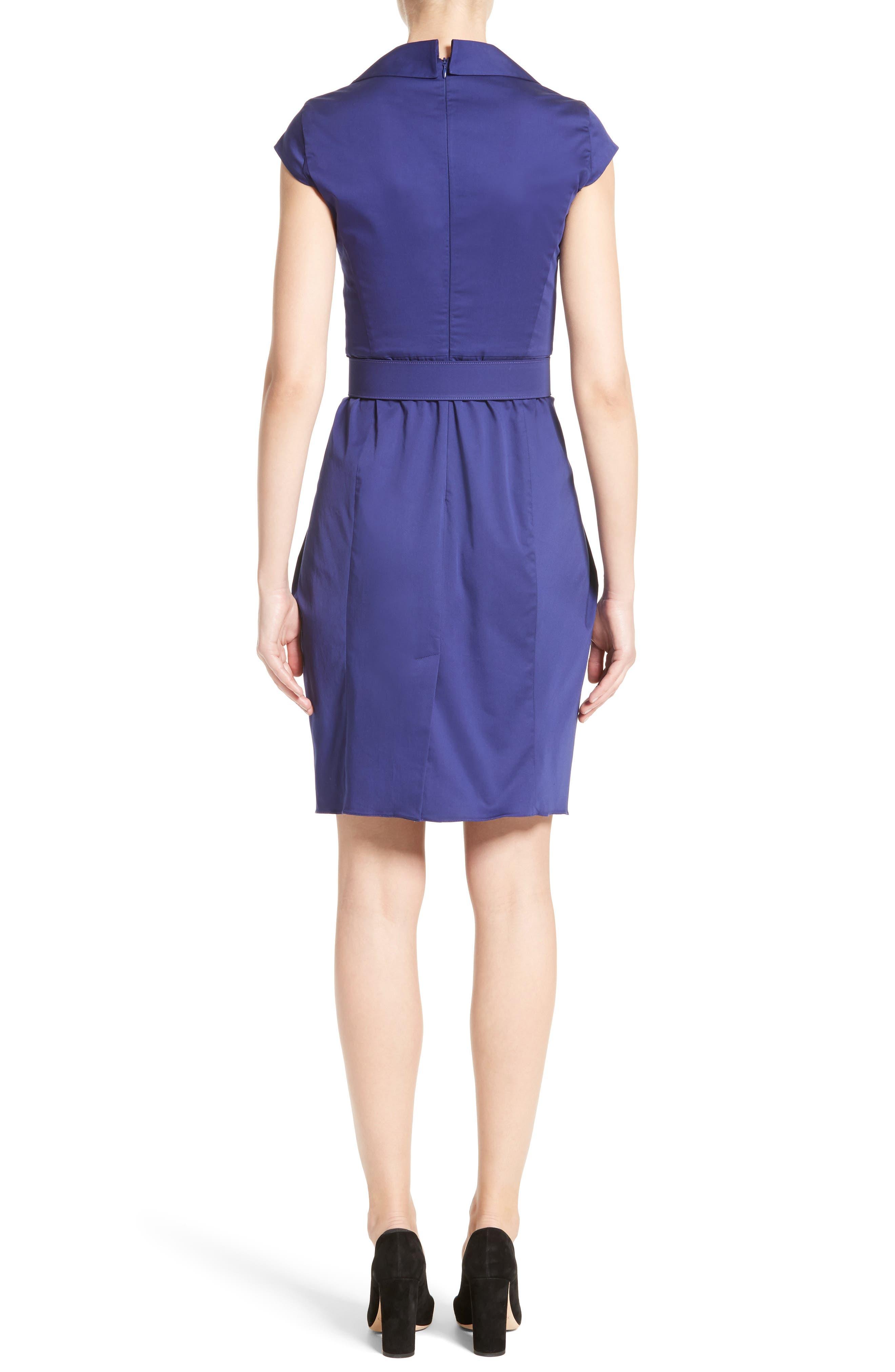 Belted Sheath Dress,                             Alternate thumbnail 2, color,