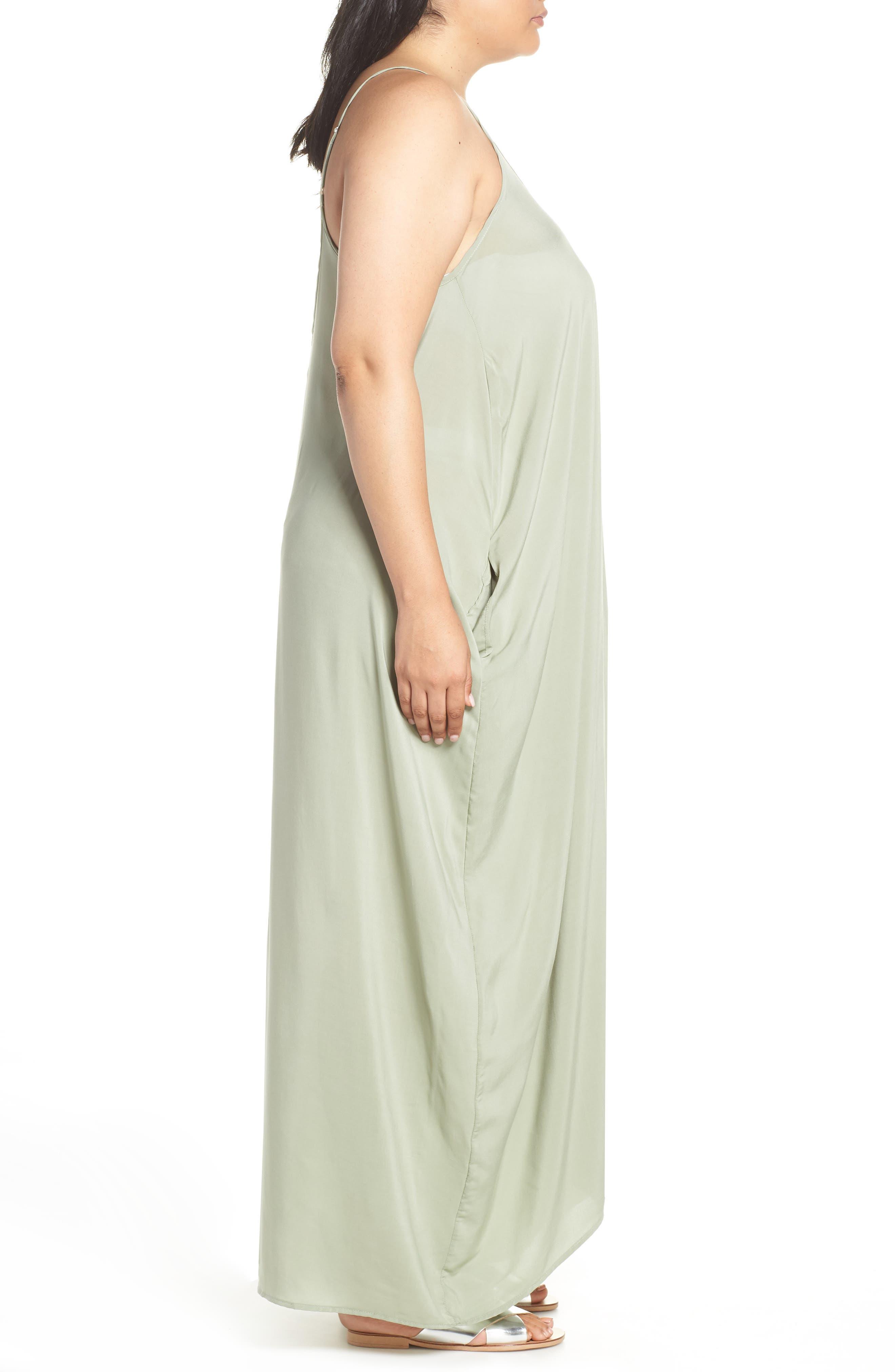 Cover-Up Maxi Dress,                             Alternate thumbnail 3, color,                             SAGE