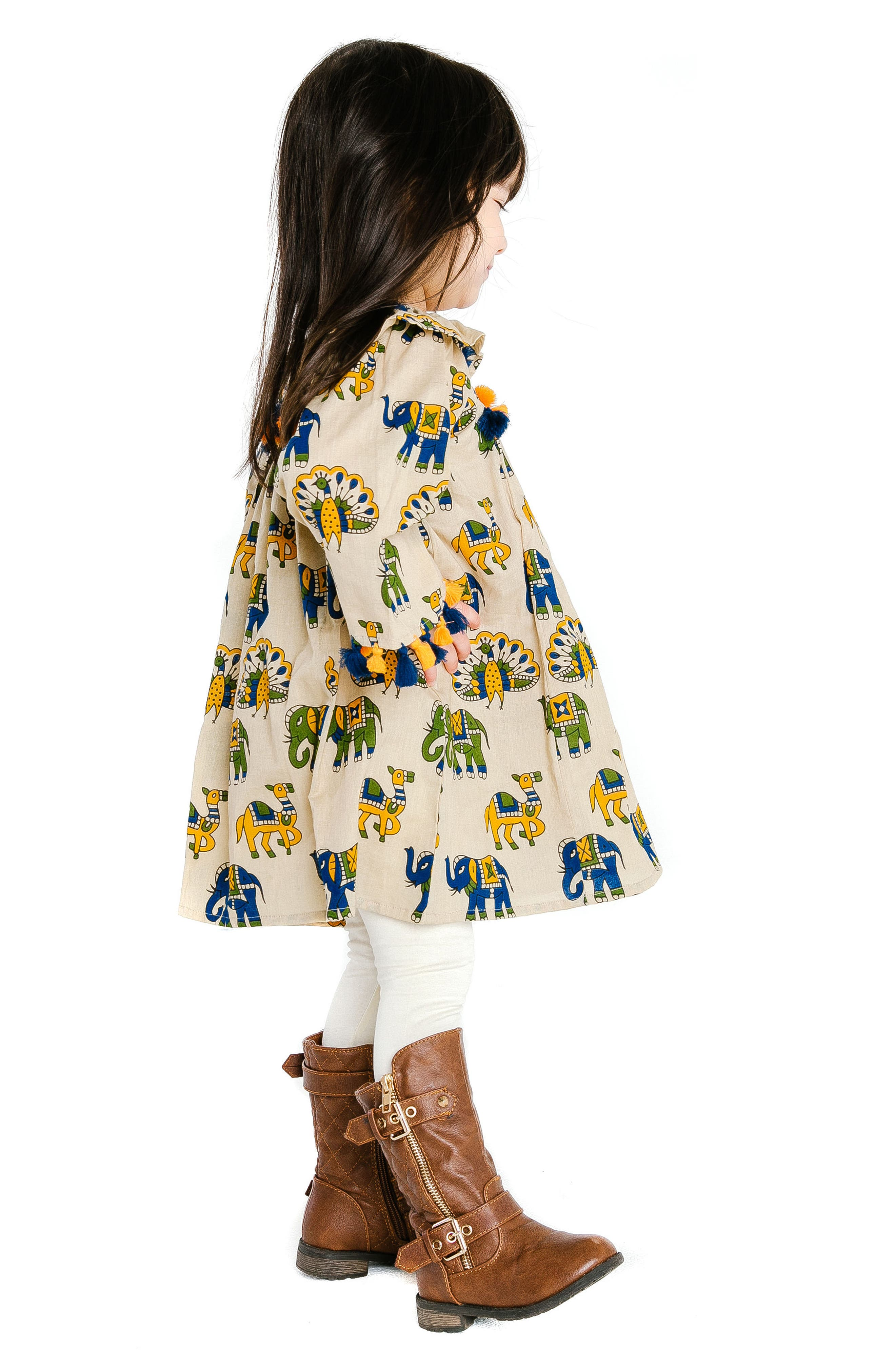 Galaxy Dress,                             Alternate thumbnail 3, color,                             SAND