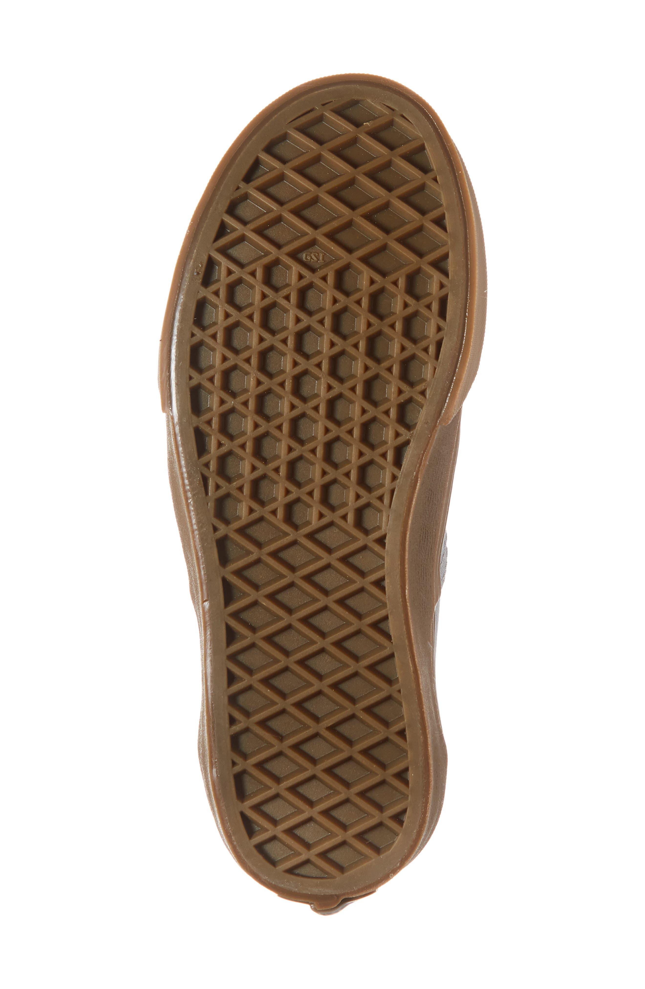 Authentic Sneaker,                             Alternate thumbnail 6, color,                             GUM OUTSOLE ALLOY/ BLACK