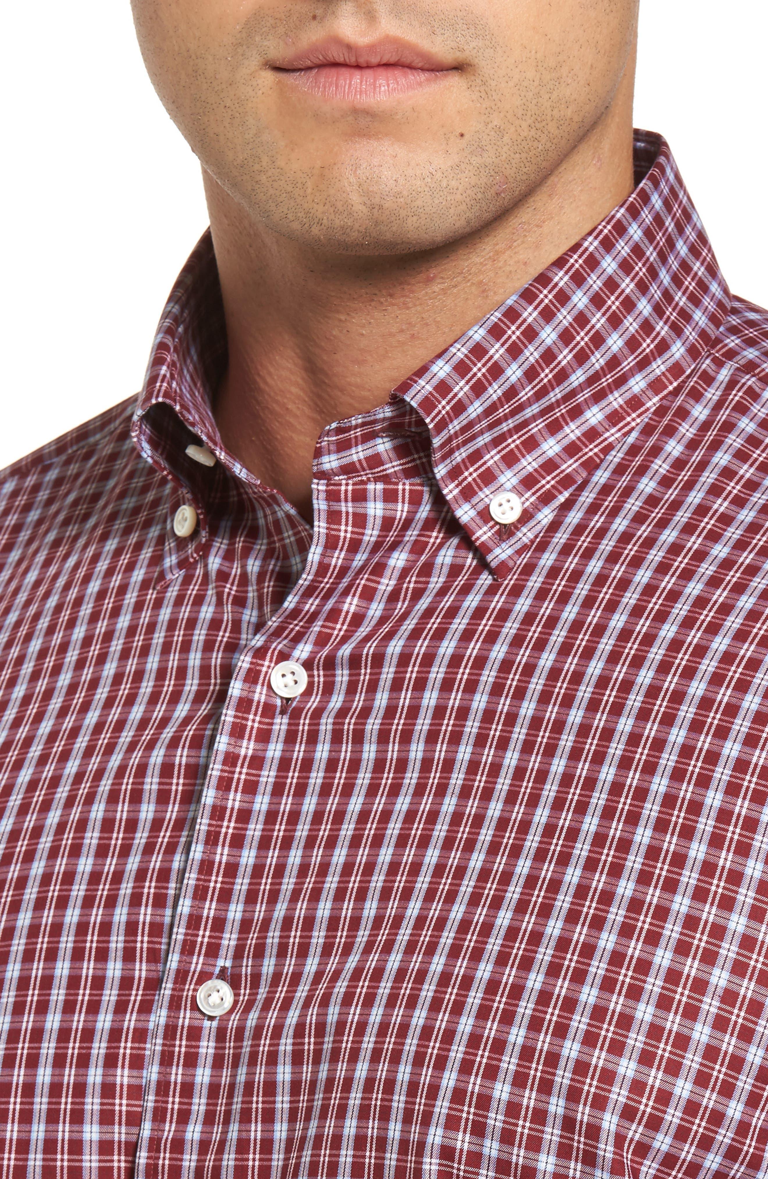 Peter Millar Isle Check Regular Fit Sport Shirt,                             Alternate thumbnail 4, color,                             930