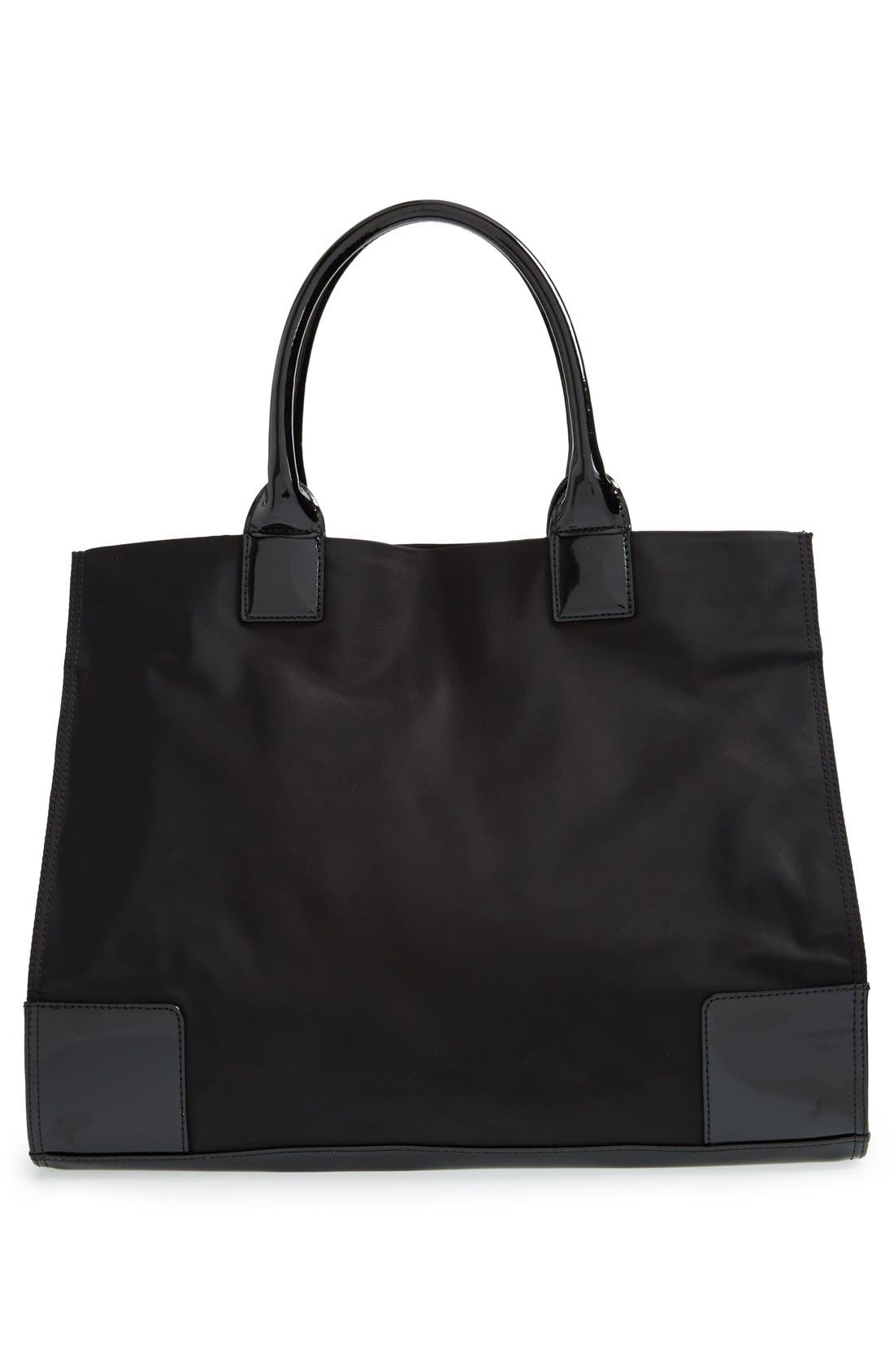 'Ella' Nylon Tote,                             Alternate thumbnail 9, color,                             BLACK/ BLACK