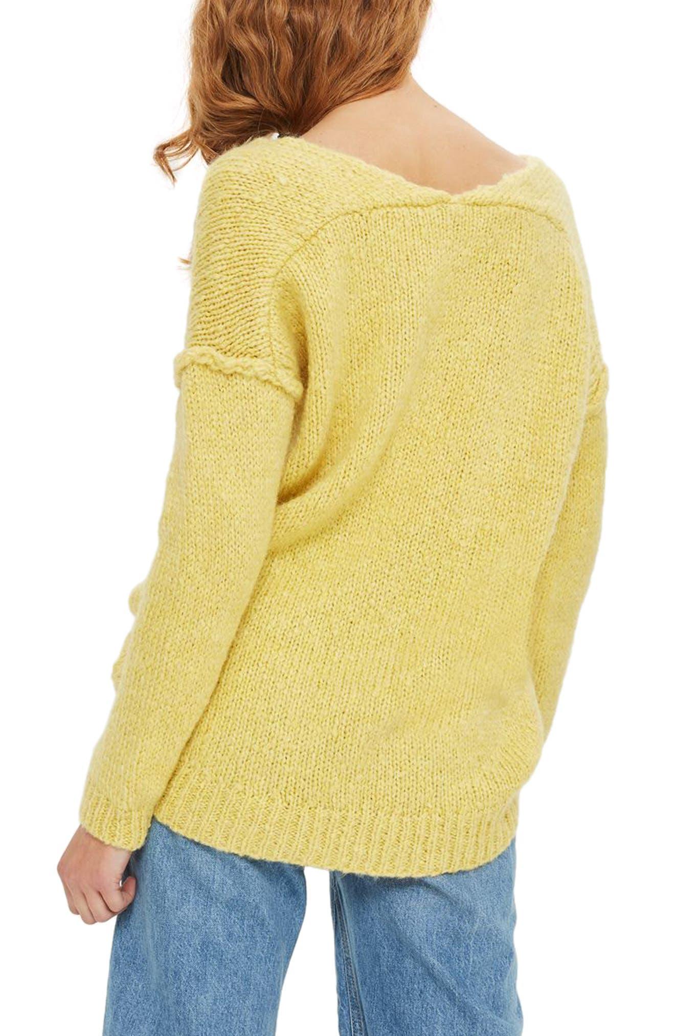 Oversize V-Neck Sweater,                             Alternate thumbnail 2, color,                             700