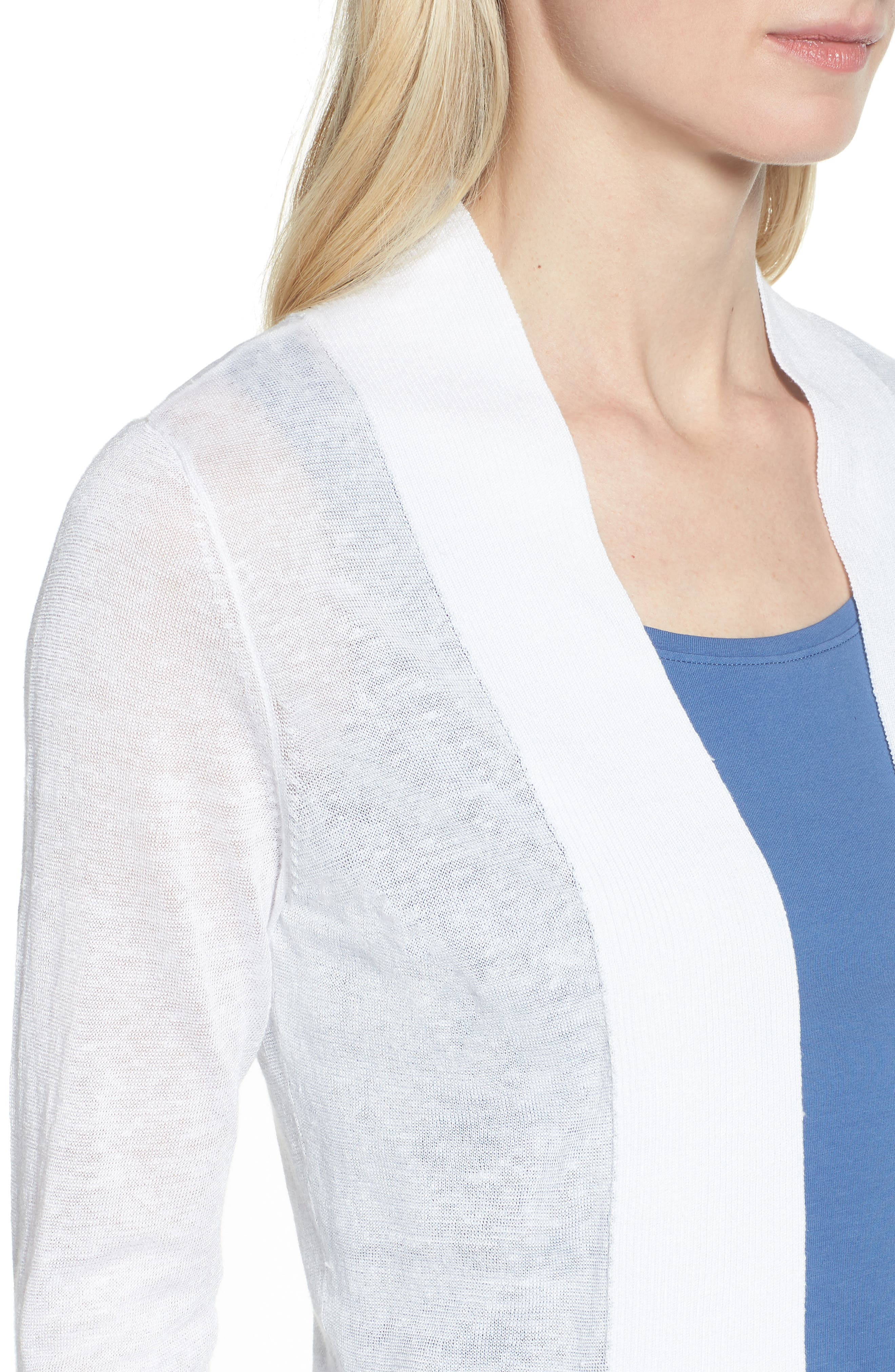 NIC + ZOE Daybreak Open Front Cardigan,                             Alternate thumbnail 4, color,                             123