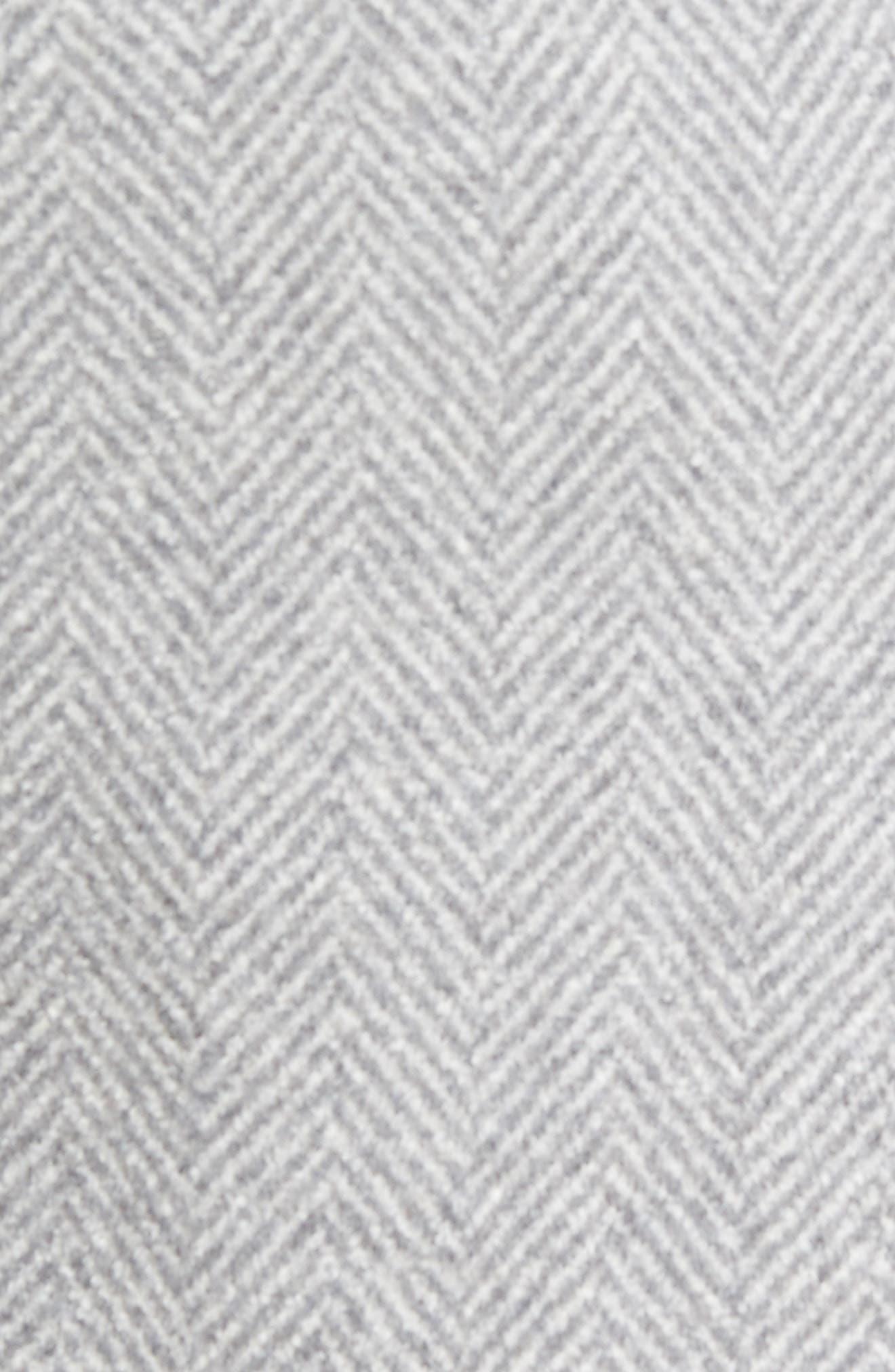 Herringbone Wool Blend Overcoat,                             Alternate thumbnail 6, color,