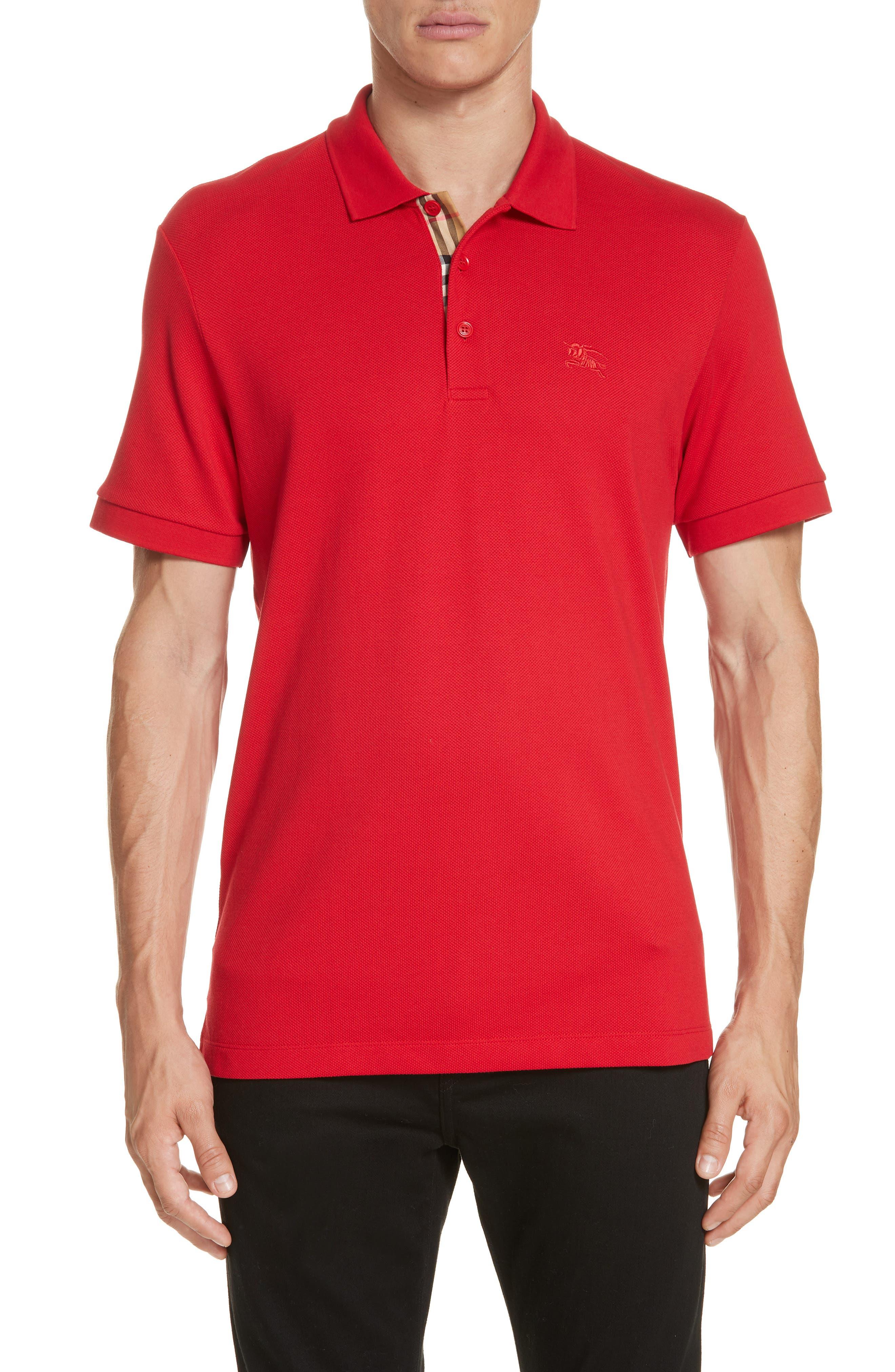 Hartford Piqué Polo,                         Main,                         color, MILITARY RED