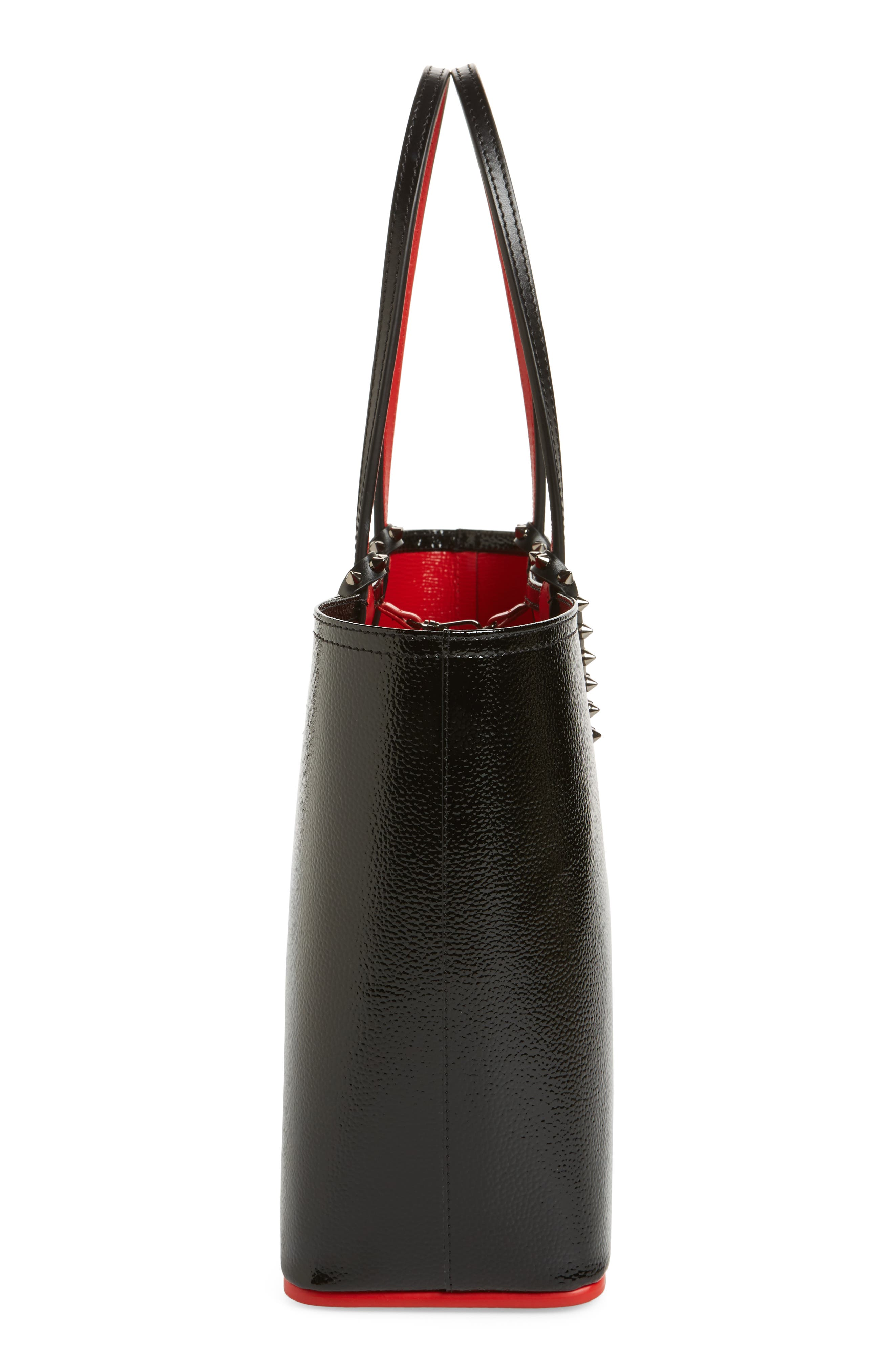 Small Cabata Leather Tote,                             Alternate thumbnail 5, color,                             007