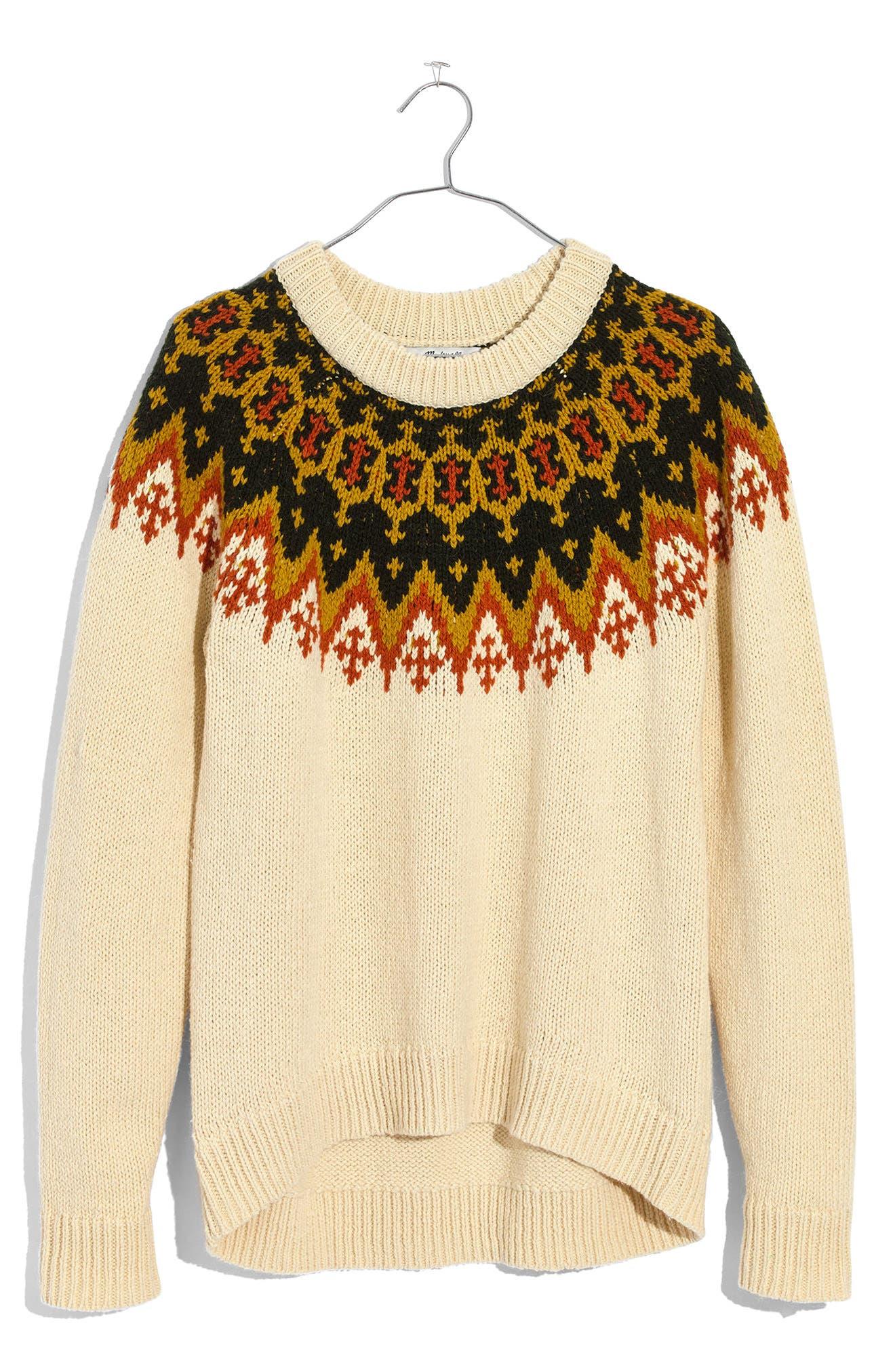 Fair Isle Sweater,                             Alternate thumbnail 3, color,                             900