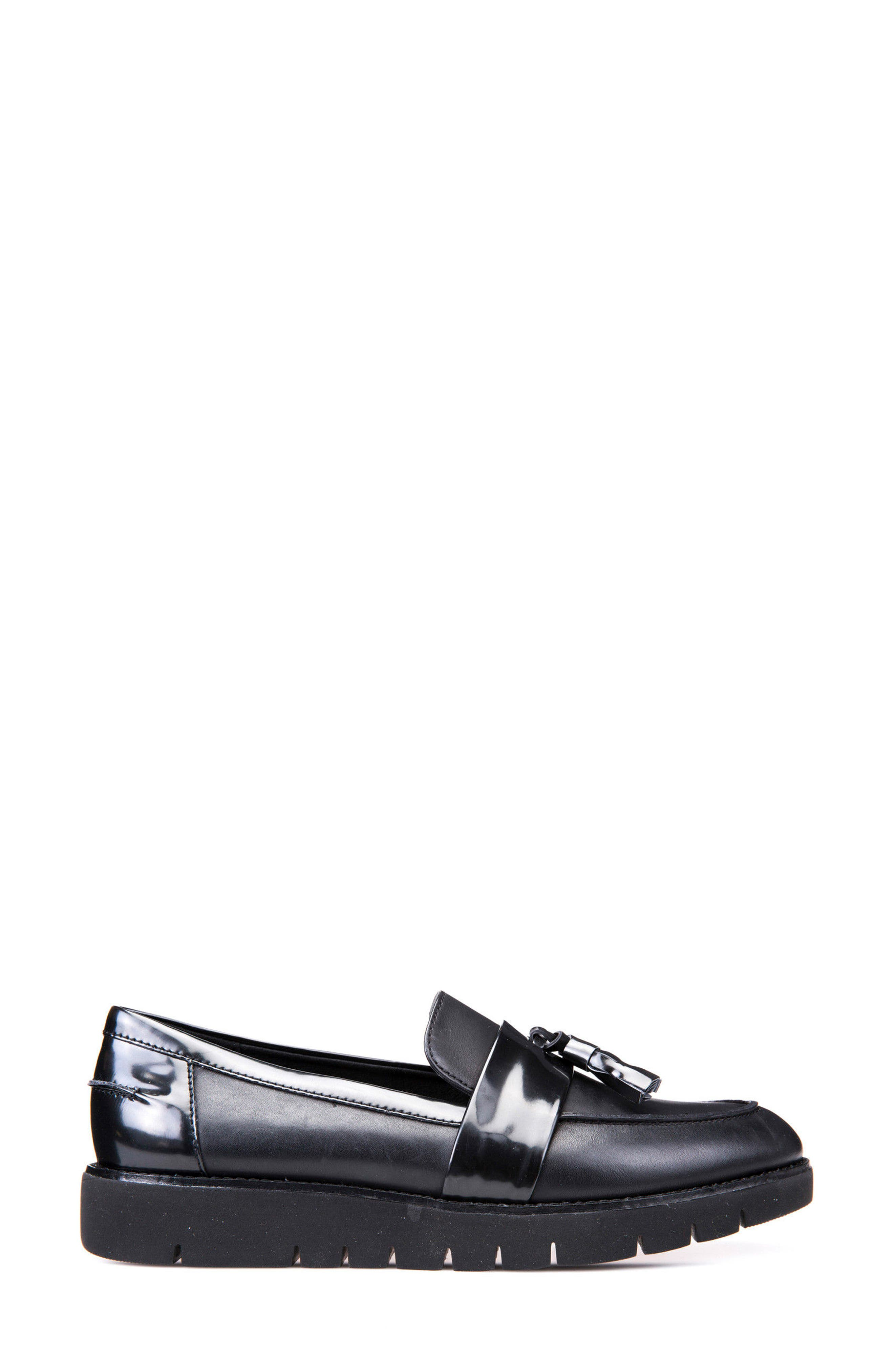 Blenda Tassel Loafer,                             Alternate thumbnail 3, color,                             001