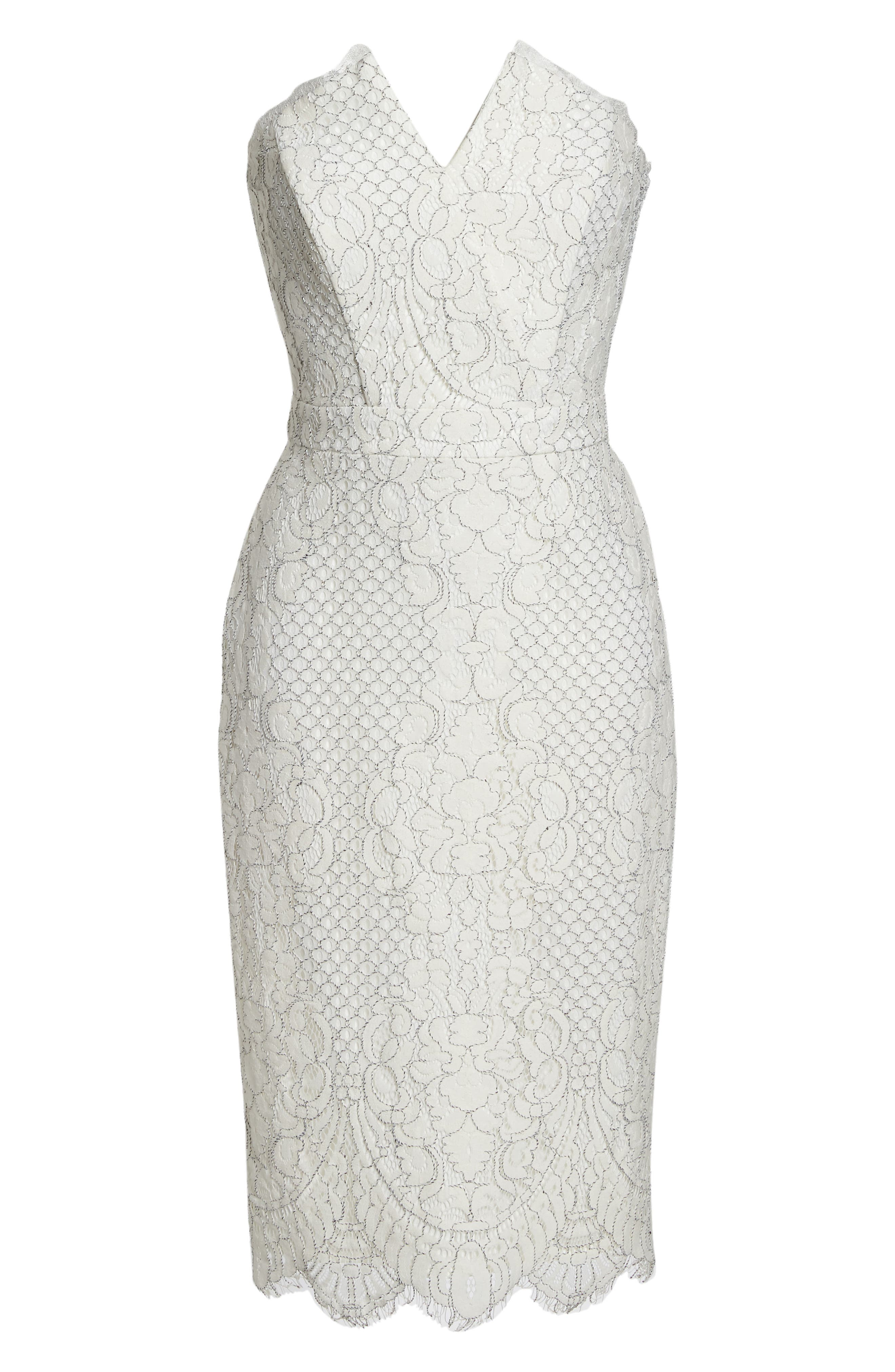 HARLYN,                             Strapless Lace Cocktail Dress,                             Alternate thumbnail 7, color,                             902