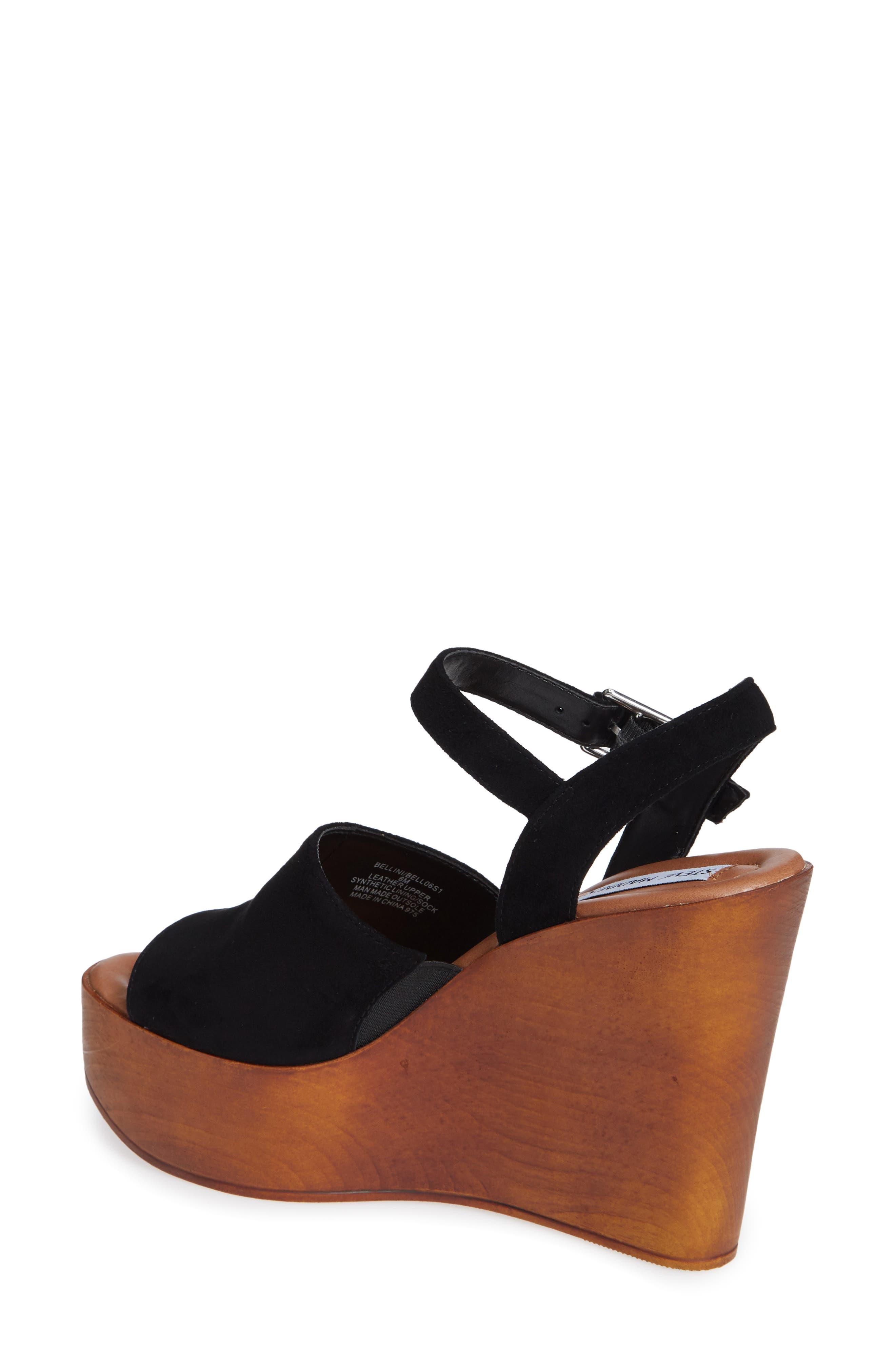 Bellini Wedge Sandal,                             Alternate thumbnail 2, color,                             BLACK SUEDE